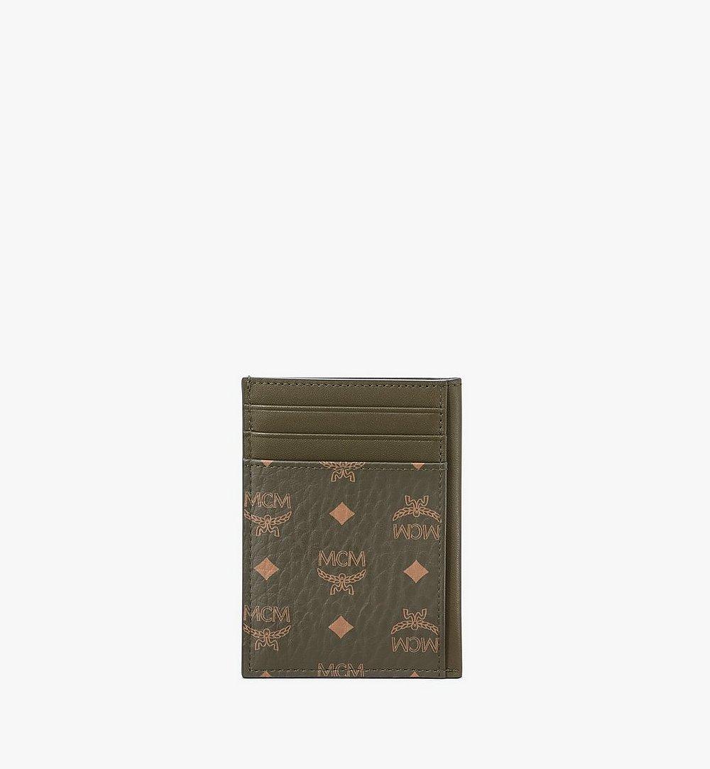 MCM N/S Card Case in Visetos Original Green MXAAAVI03JH001 Alternate View 2