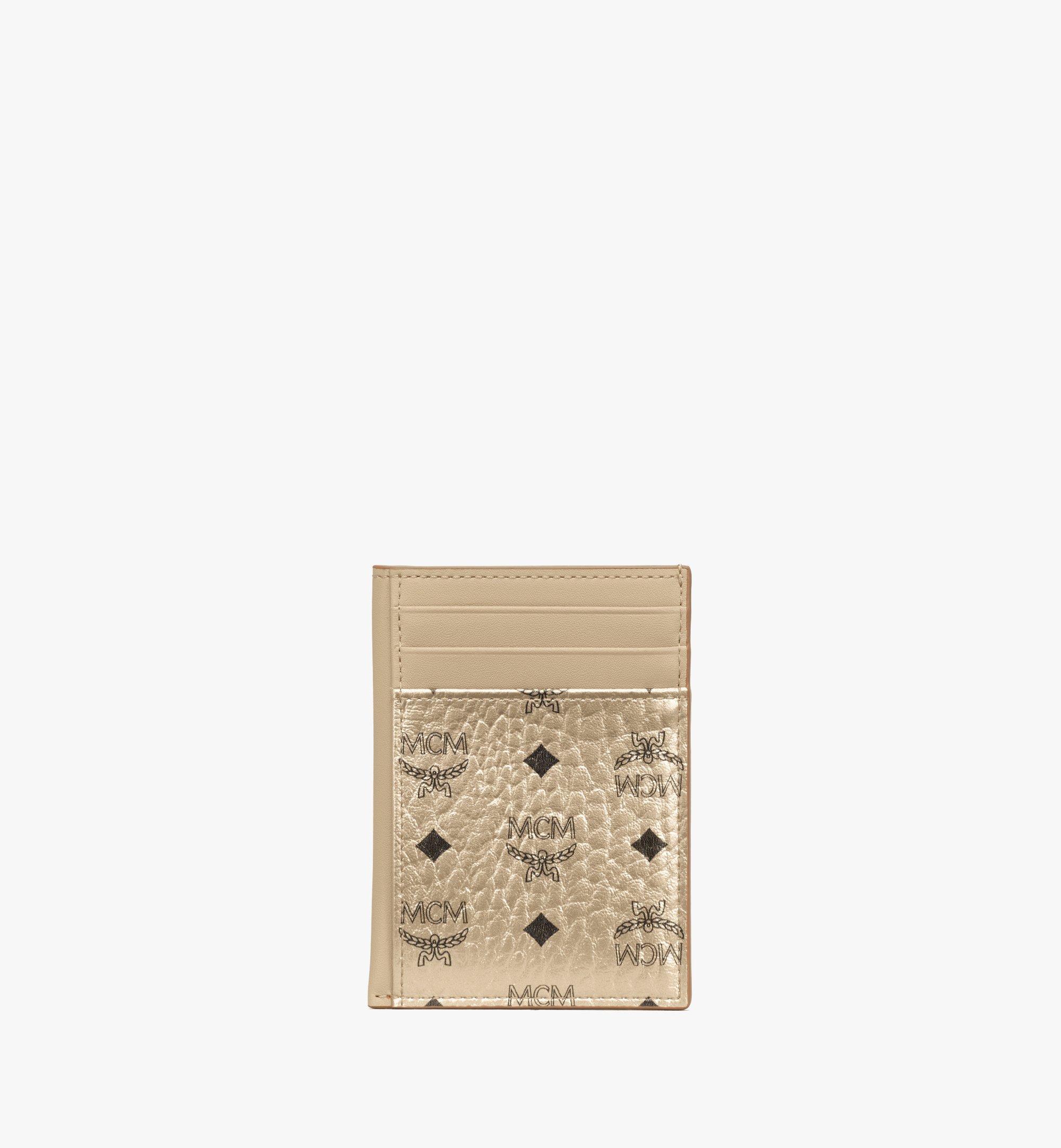 MCM 〈ヴィセトス オリジナル〉N/S カードケース Gold MXAAAVI03T1001 Alternate View 1