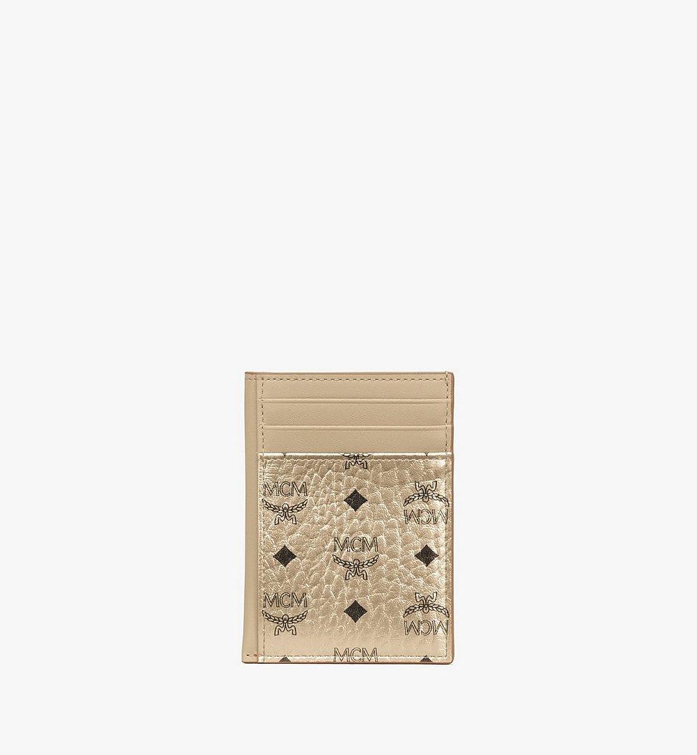 MCM N/S Card Case in Visetos Original Cognac MXAAAVI03T1001 Alternate View 1