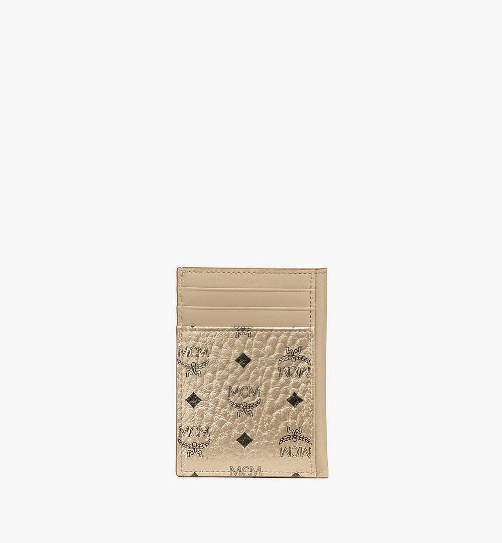 MCM N/S Card Case in Visetos Original Cognac MXAAAVI03T1001 Alternate View 2