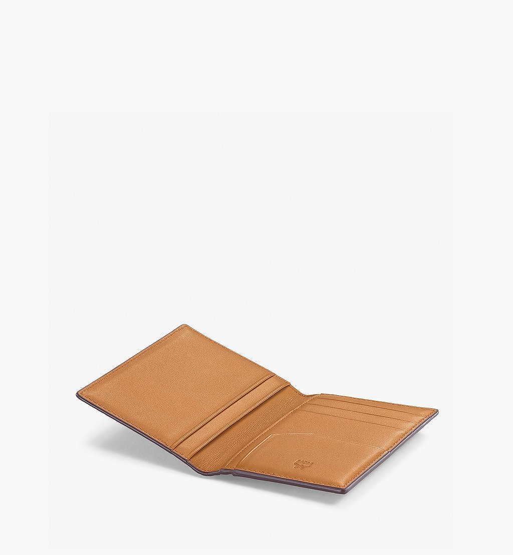 MCM Bifold Card Wallet in Visetos Original Cognac MXAAAVI04CO001 Alternate View 1