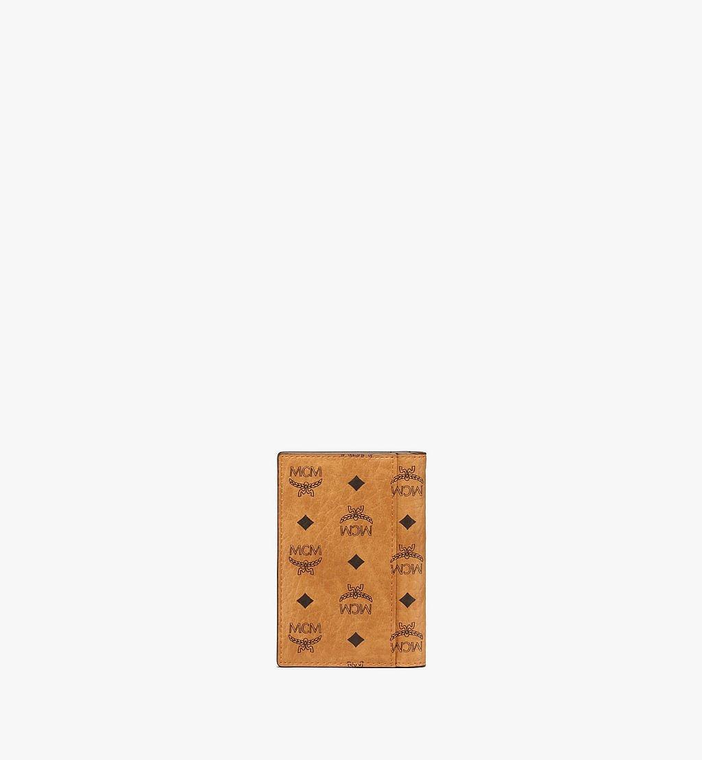 MCM Bifold Card Wallet in Visetos Original Cognac MXAAAVI04CO001 Alternate View 2