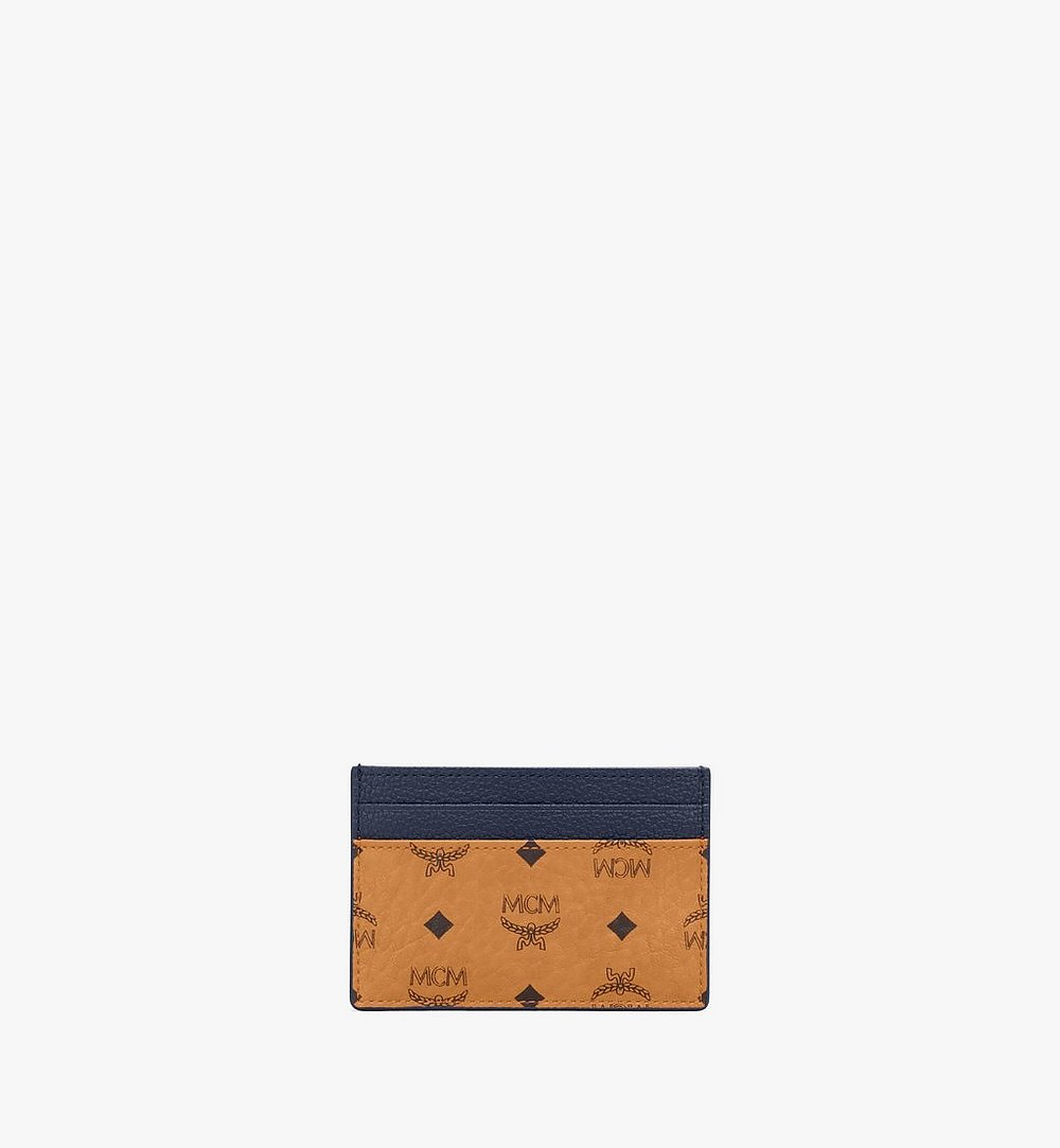 MCM Card Case in Visetos Leather Mix Black MXAAAVI06CO001 Alternate View 1