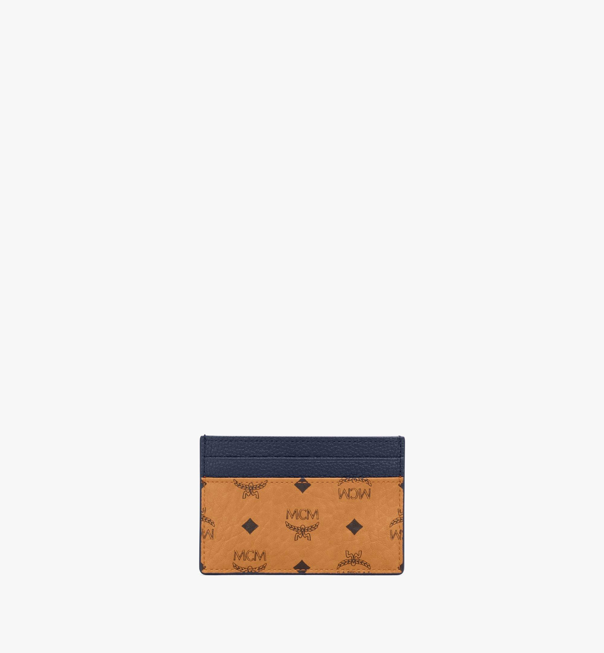 MCM Card Case in Visetos Leather Mix Cognac MXAAAVI06CO001 Alternate View 1