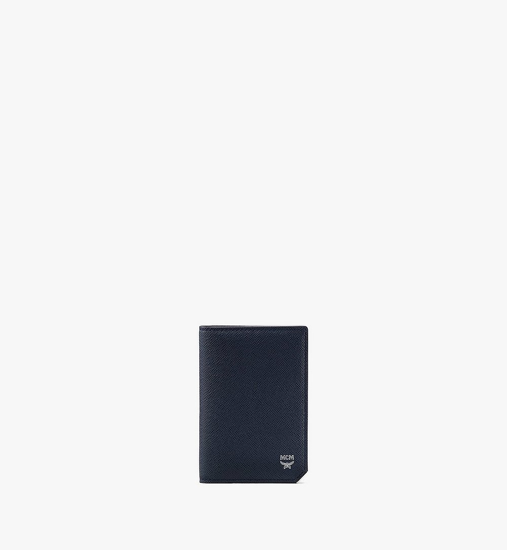 MCM New Bric Bifold Card Wallet Navy MXAASLL03VY001 Alternate View 1