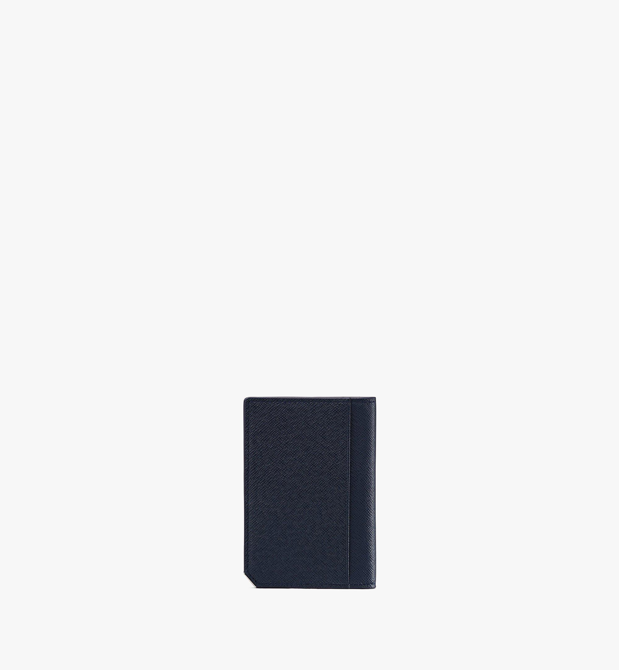 MCM 〈ニュー ブリック〉二つ折りカードウォレット Navy MXAASLL03VY001 Alternate View 2