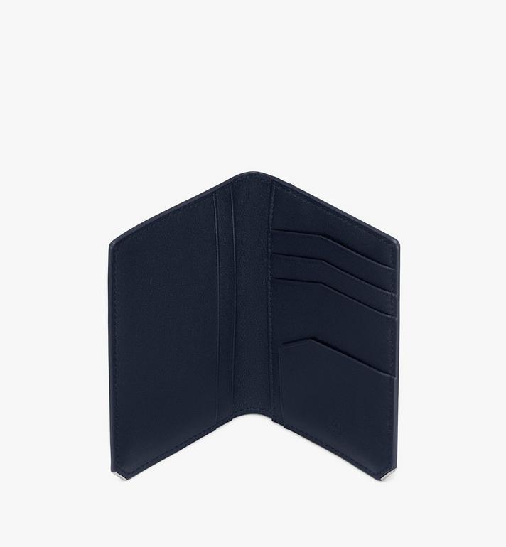 MCM 〈ニュー ブリック〉二つ折りカードウォレット Navy MXAASLL03VY001 Alternate View 3