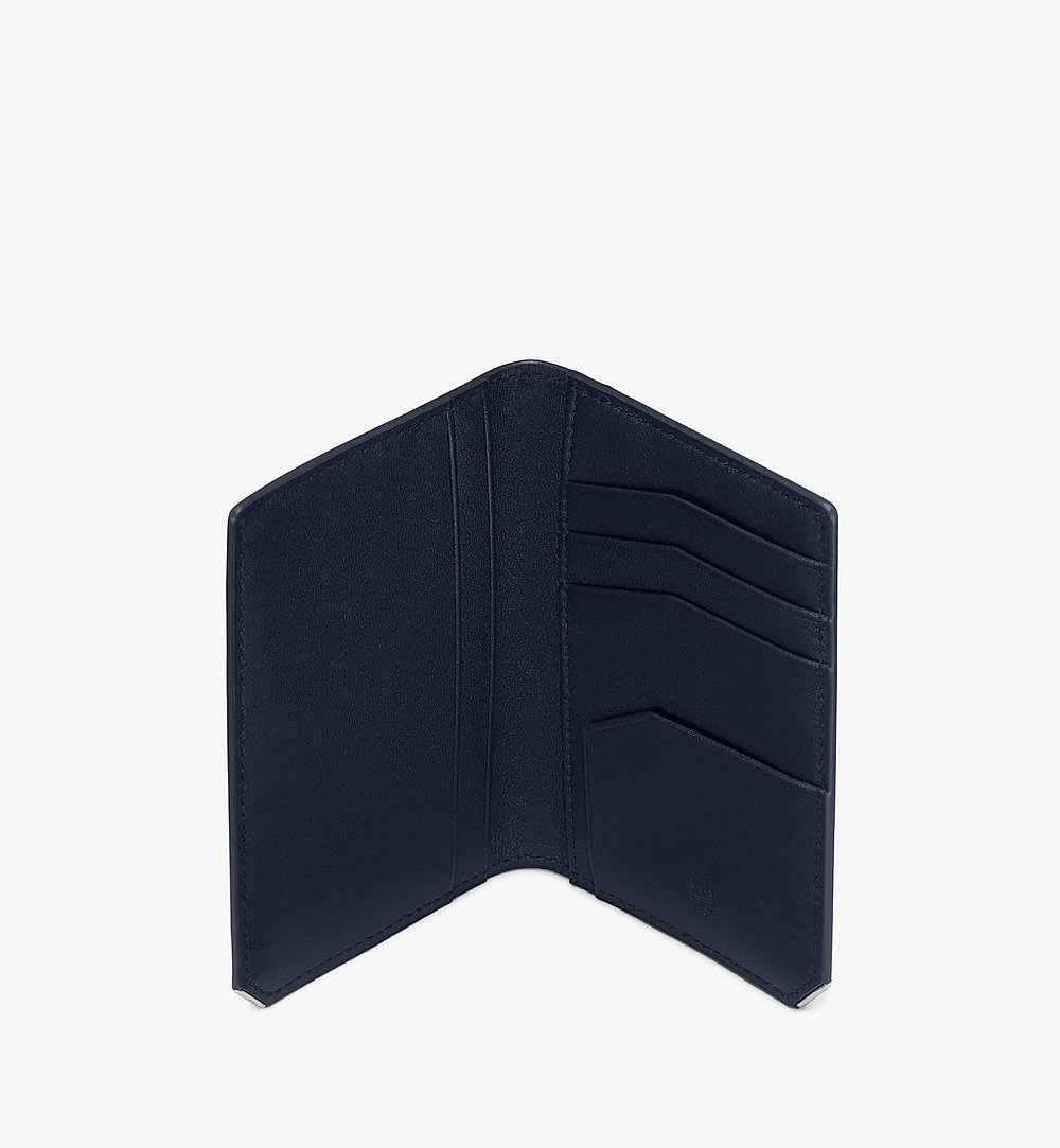 MCM New Bric Bifold Card Wallet Navy MXAASLL03VY001 Alternate View 2
