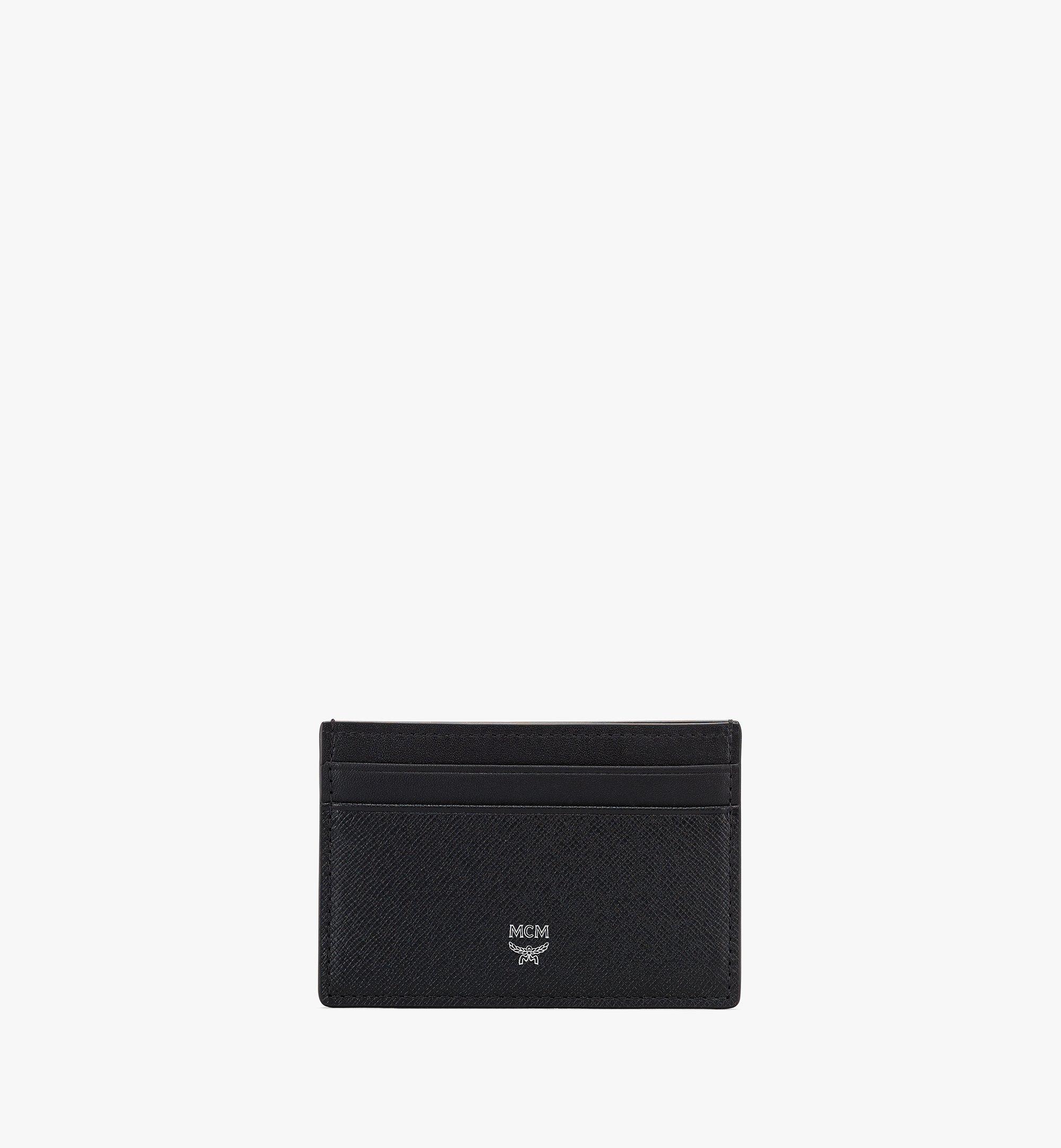 MCM New Bric Card Case Black MXAASLL04BK001 Alternate View 1