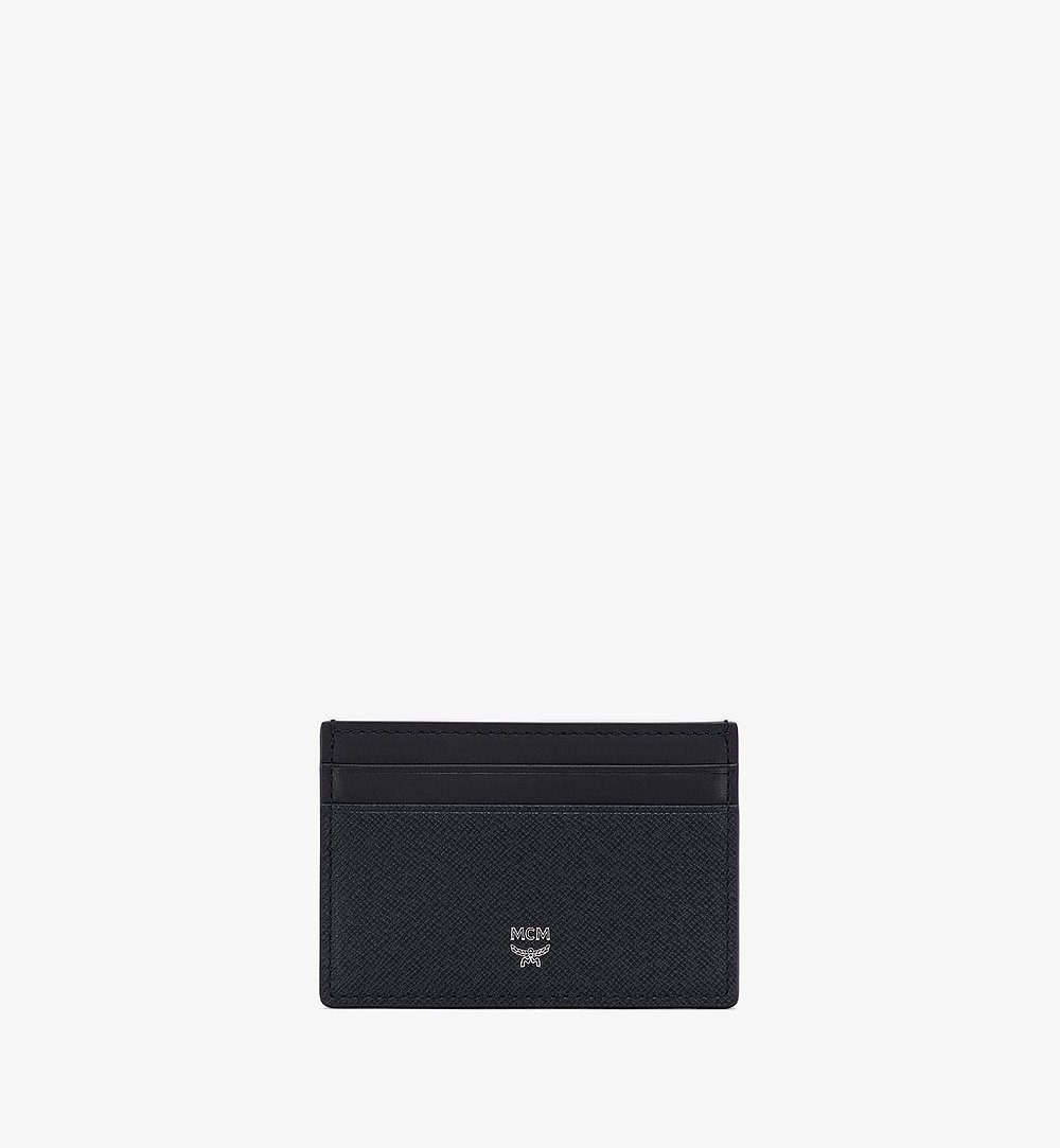 MCM New Bric Card Case Navy MXAASLL04VY001 Alternate View 1