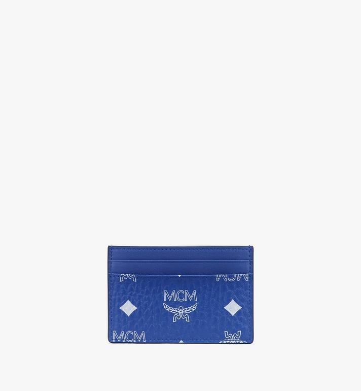 MCM Card Case in Visetos Blue MXAASVI01H1001 Alternate View 2