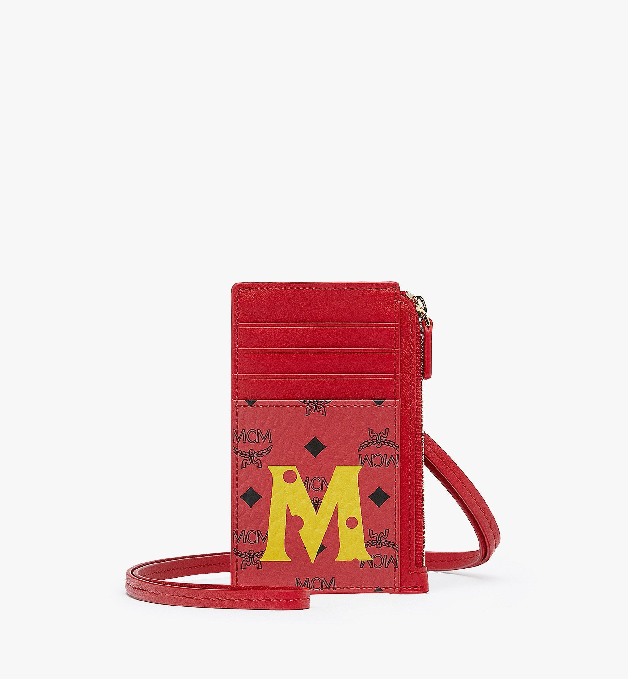 MCM Year Of The Mouse Lanyard Card Holder Red MXAASXL01RJ001 Alternate View 1