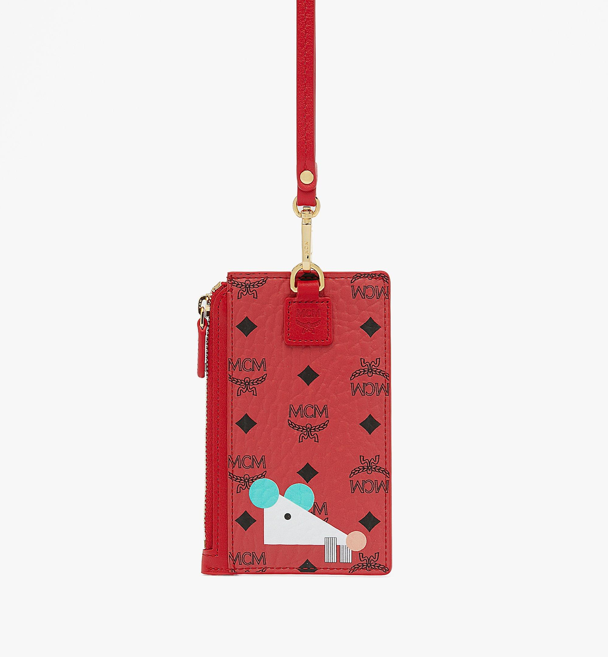 MCM Year Of The Mouse 랜야드 카드 홀더 Red MXAASXL01RJ001 Alternate View 2