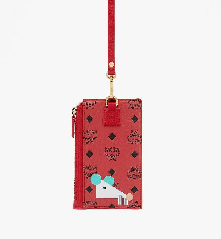 MCM Year Of The Mouse Lanyard Card Holder Red MXAASXL01RJ001 Alternate View 2