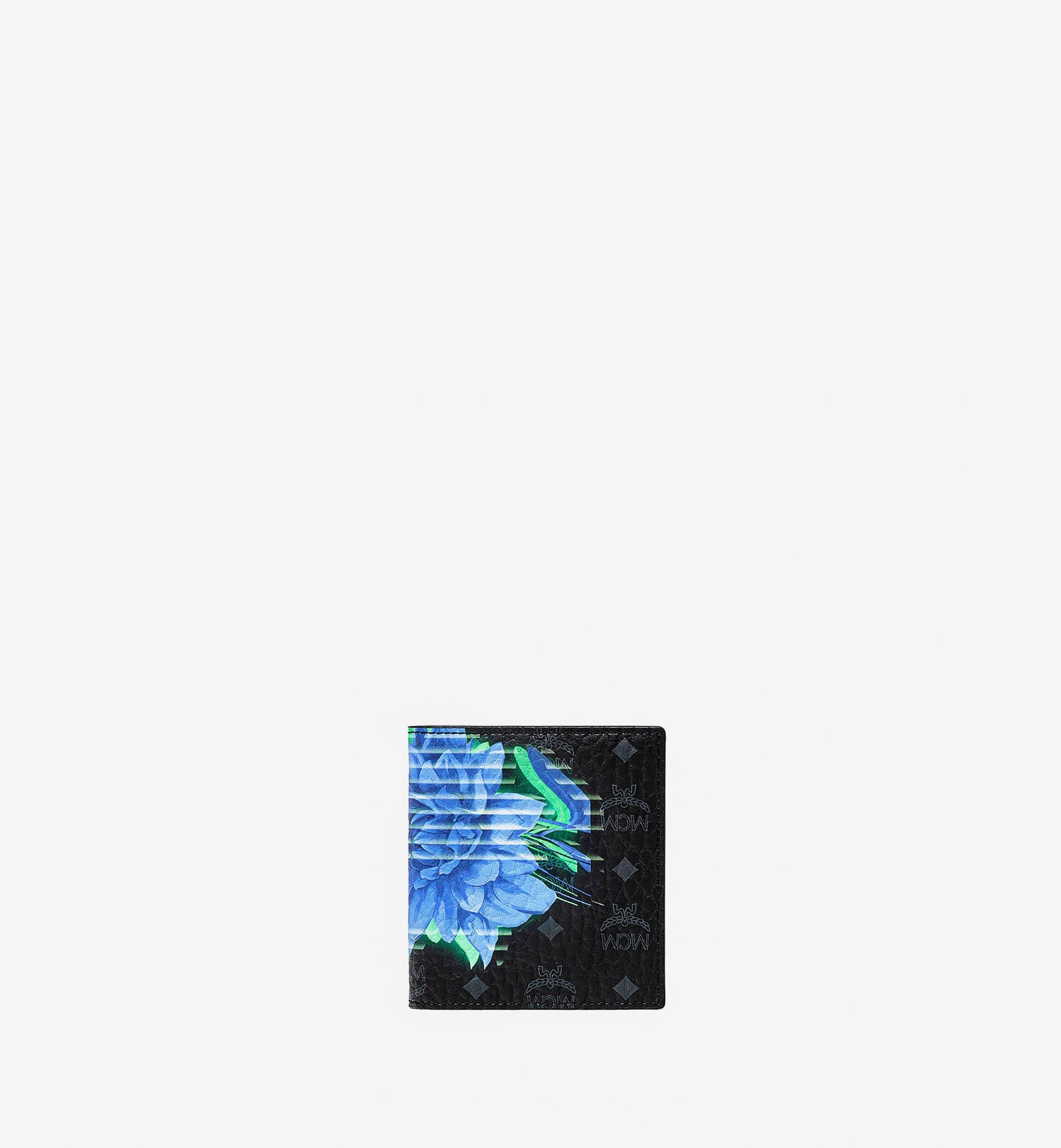 MCM 二つ折り カードウォレット - テックフラワー ヴィセトス Black MXABSSX01BK001 ほかの角度から見る 1