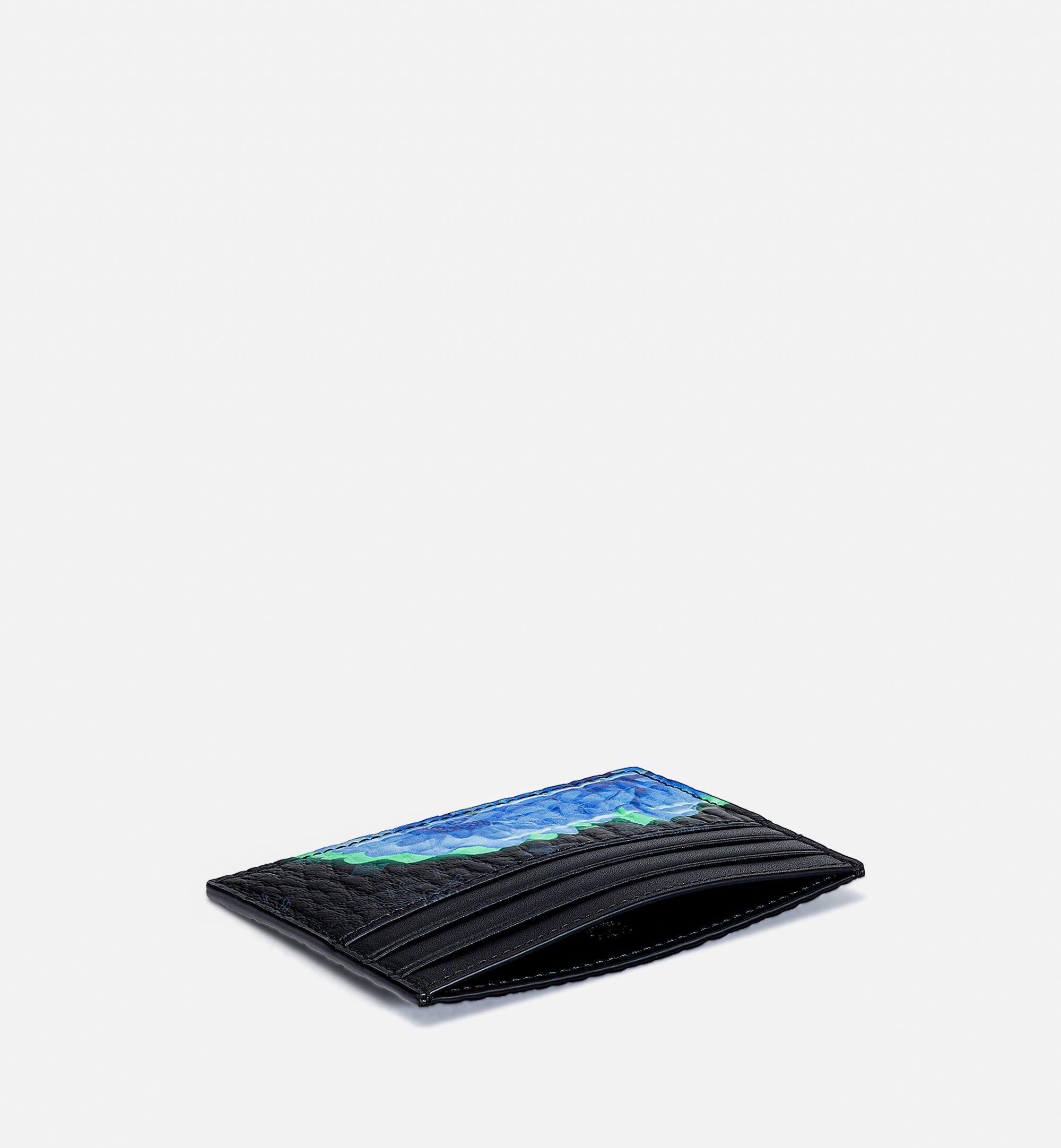 MCM Card Case in Tech Flower Visetos Black MXABSSX02BK001 Alternate View 1