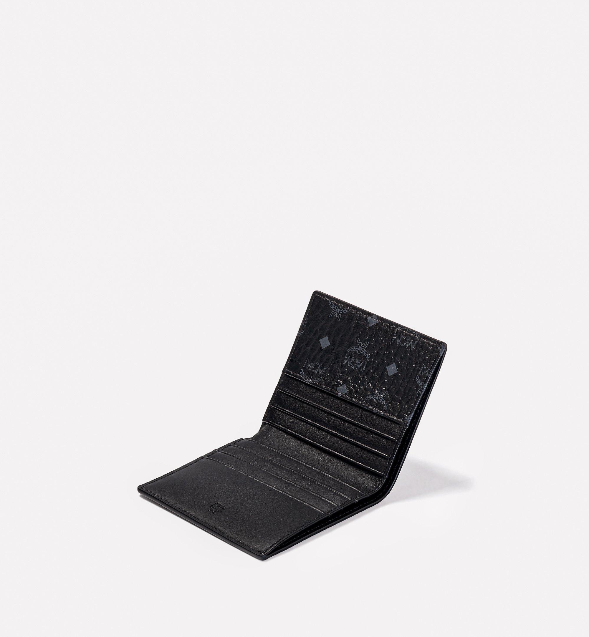 MCM 〈ヴィセトス オリジナル〉二つ折り カードウォレット Black MXABSVI01BK001 ほかの角度から見る 1