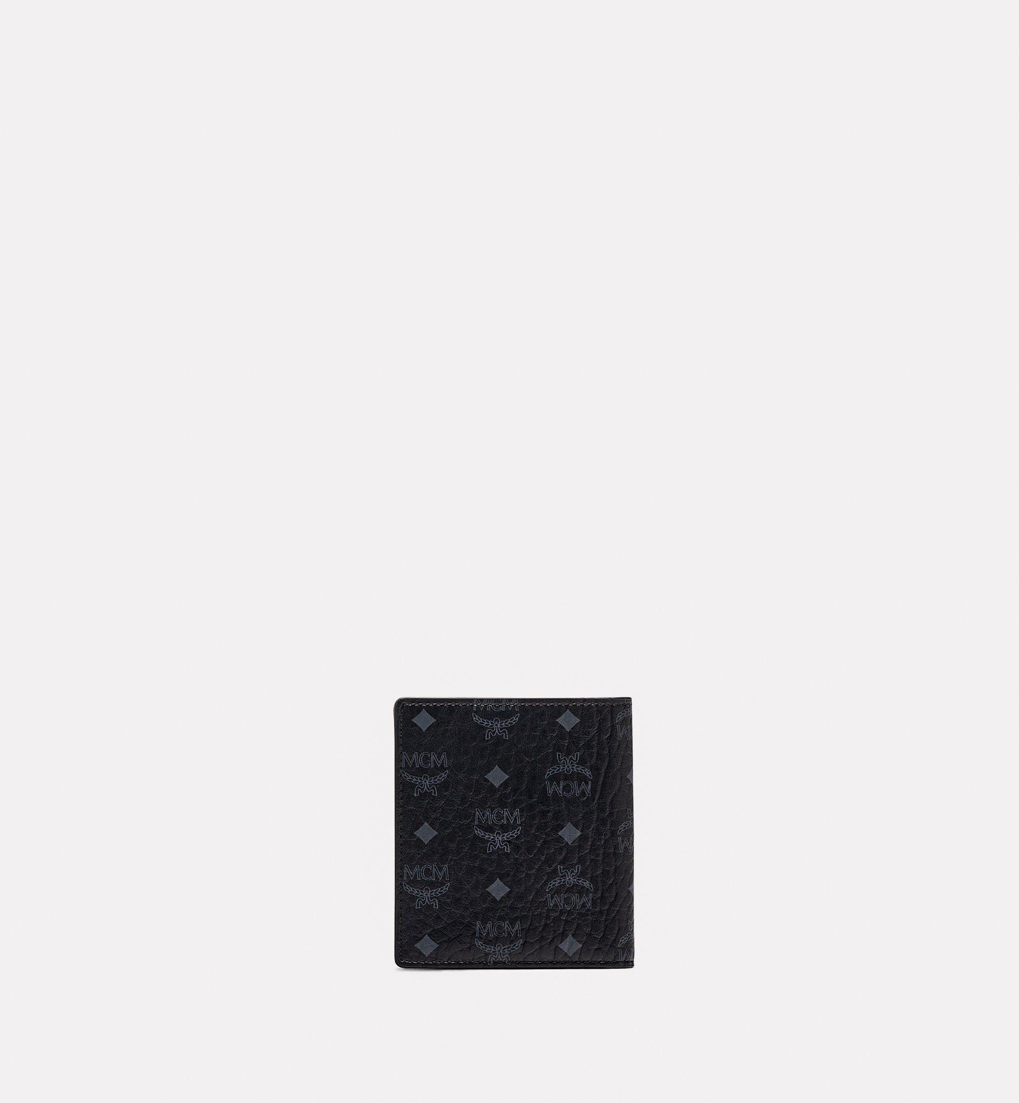 MCM 〈ヴィセトス オリジナル〉二つ折り カードウォレット Black MXABSVI01BK001 ほかの角度から見る 2