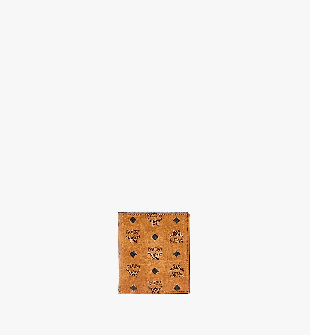 MCM Bifold Card Wallet in Visetos Original Cognac MXABSVI01CO001 Alternate View 1