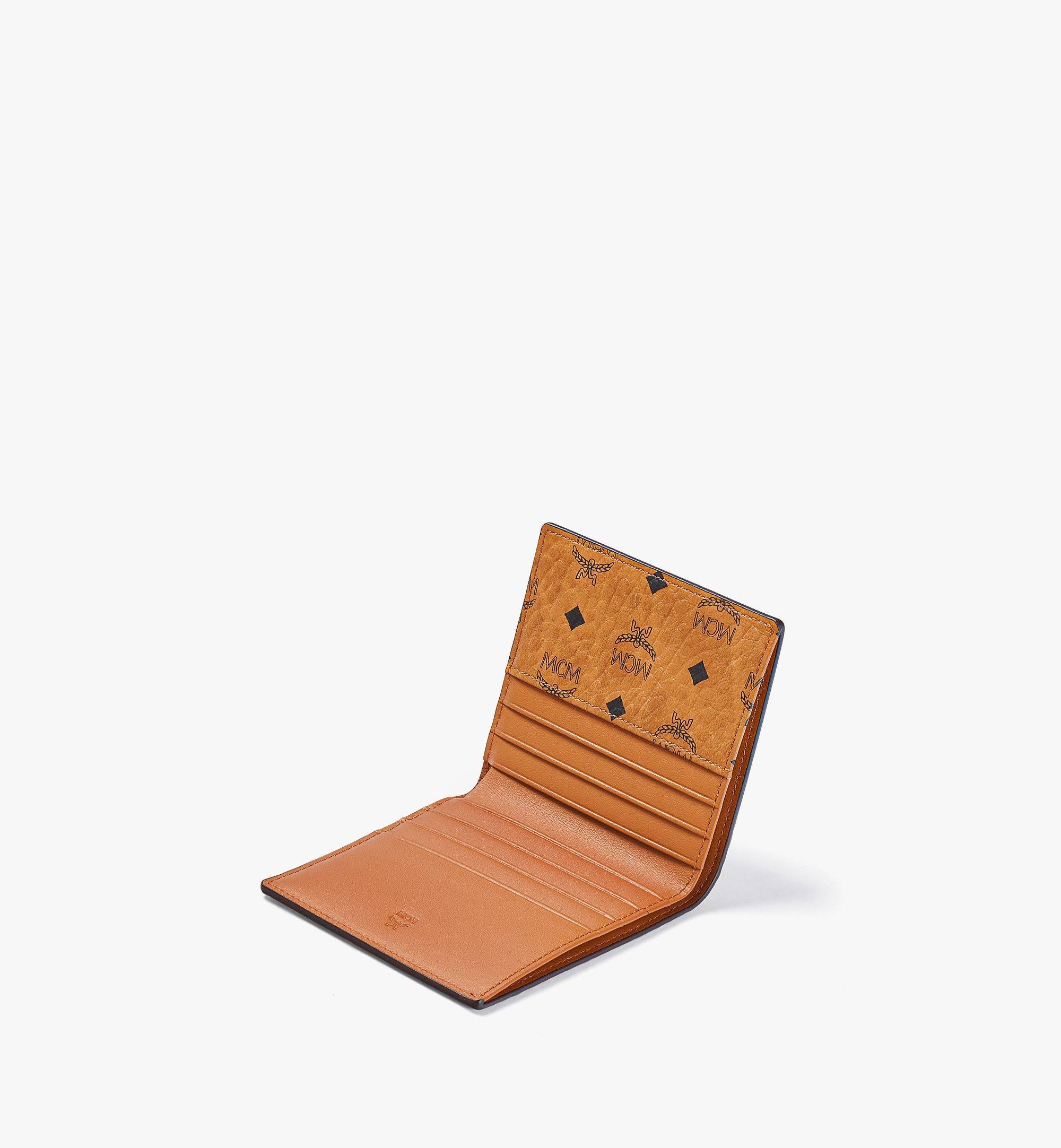 MCM Gefaltete Brieftasche für Karten in Visetos Original Cognac MXABSVI01CO001 Noch mehr sehen 1