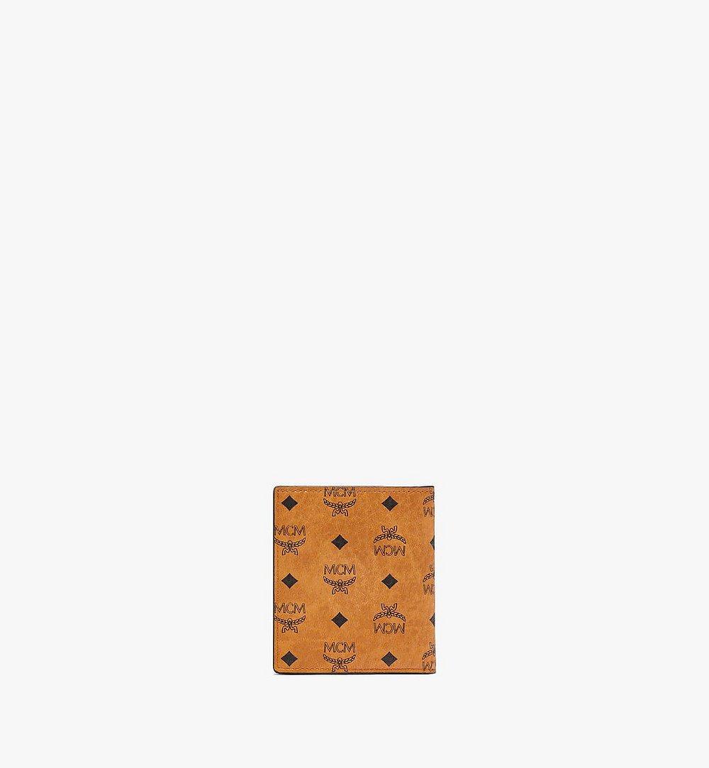 MCM Bifold Card Wallet in Visetos Original Cognac MXABSVI01CO001 Alternate View 2