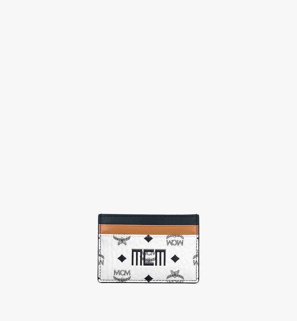 MCM Card Case in Visetos Mix White MXABSVI02WT001 Alternate View 1