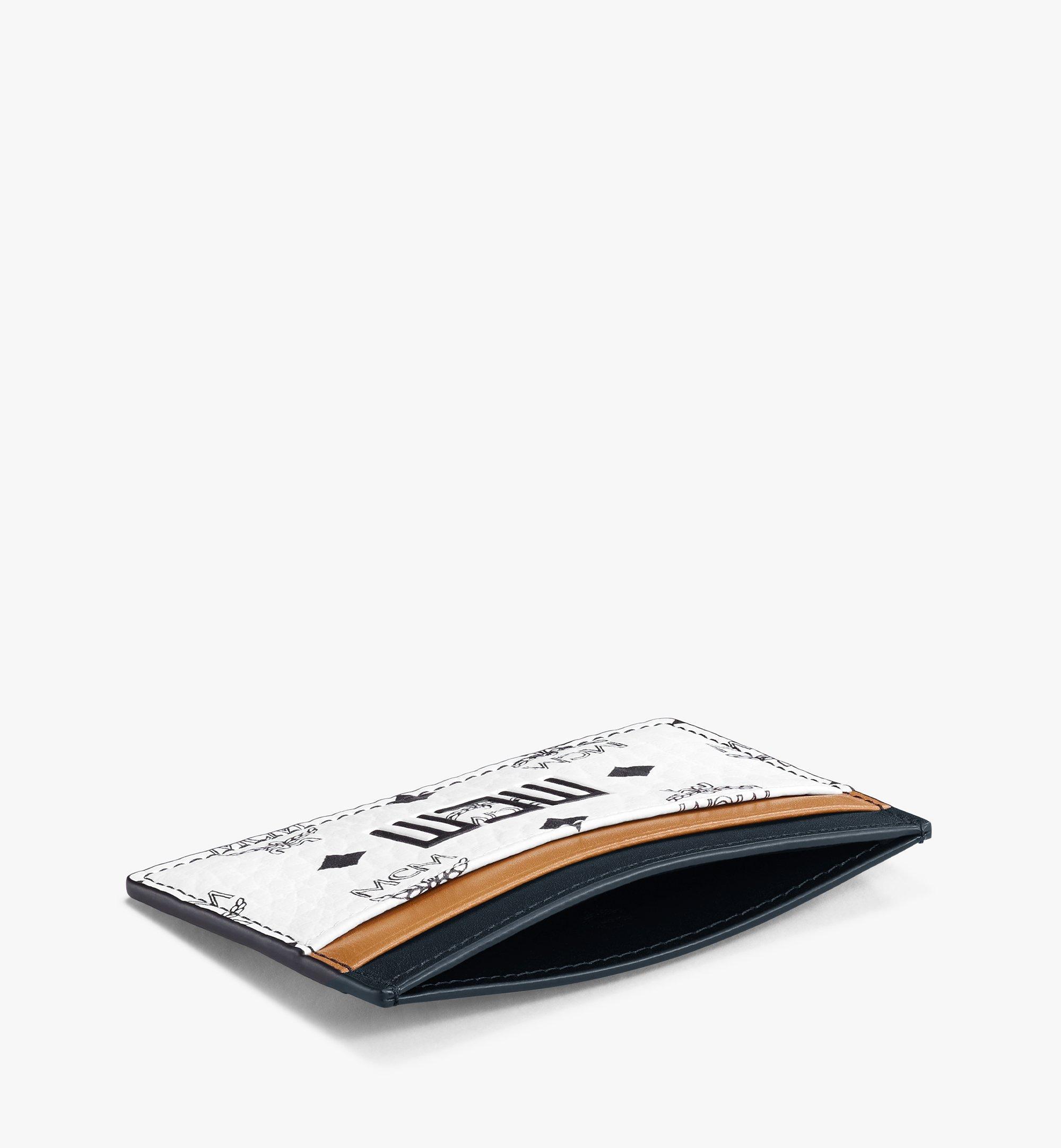 MCM Visetos 皮革混合 Claus 卡片夾 White MXABSVI02WT001 更多視圖 1