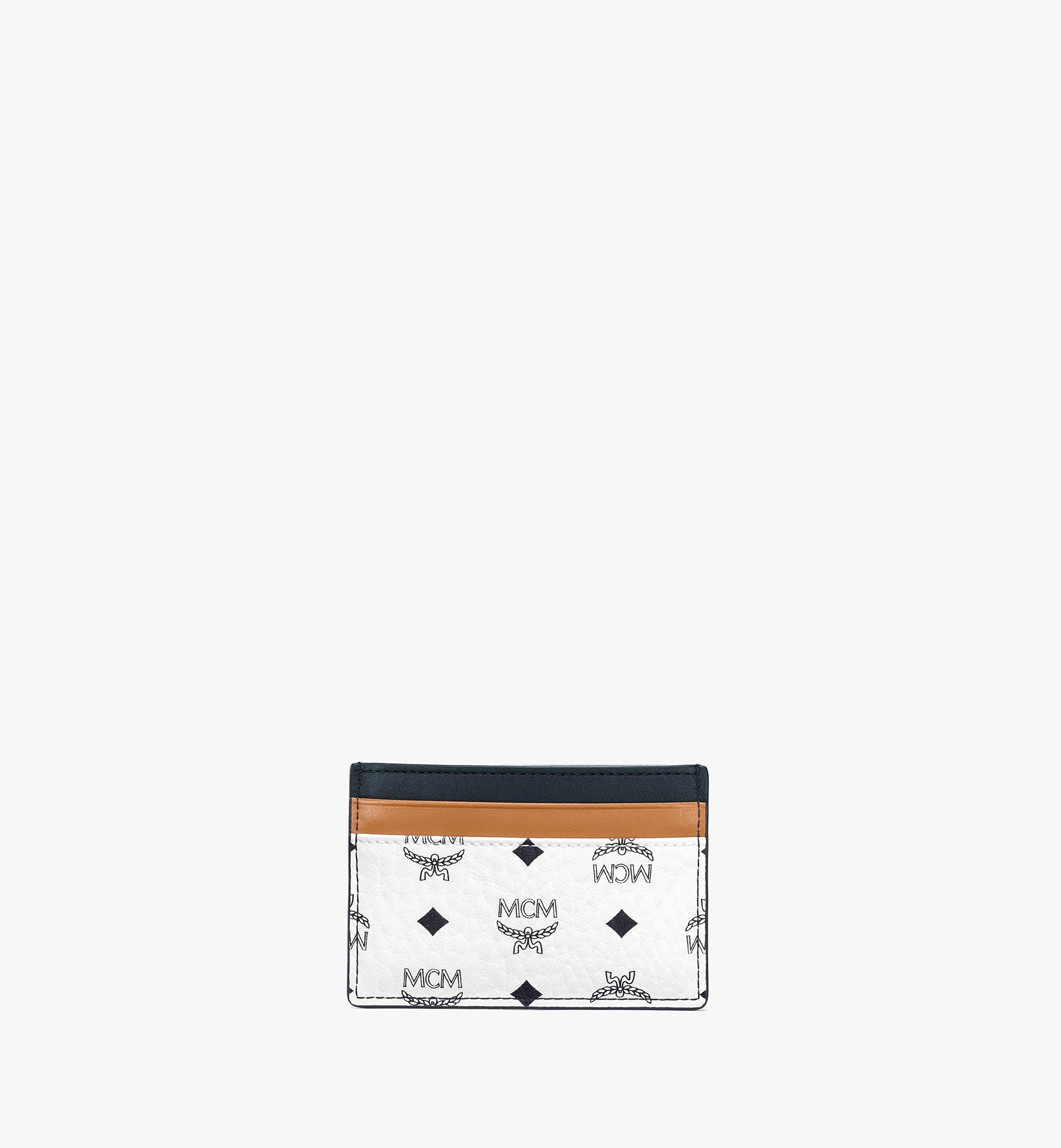 MCM Visetos 皮革混合 Claus 卡片夾 White MXABSVI02WT001 更多視圖 2