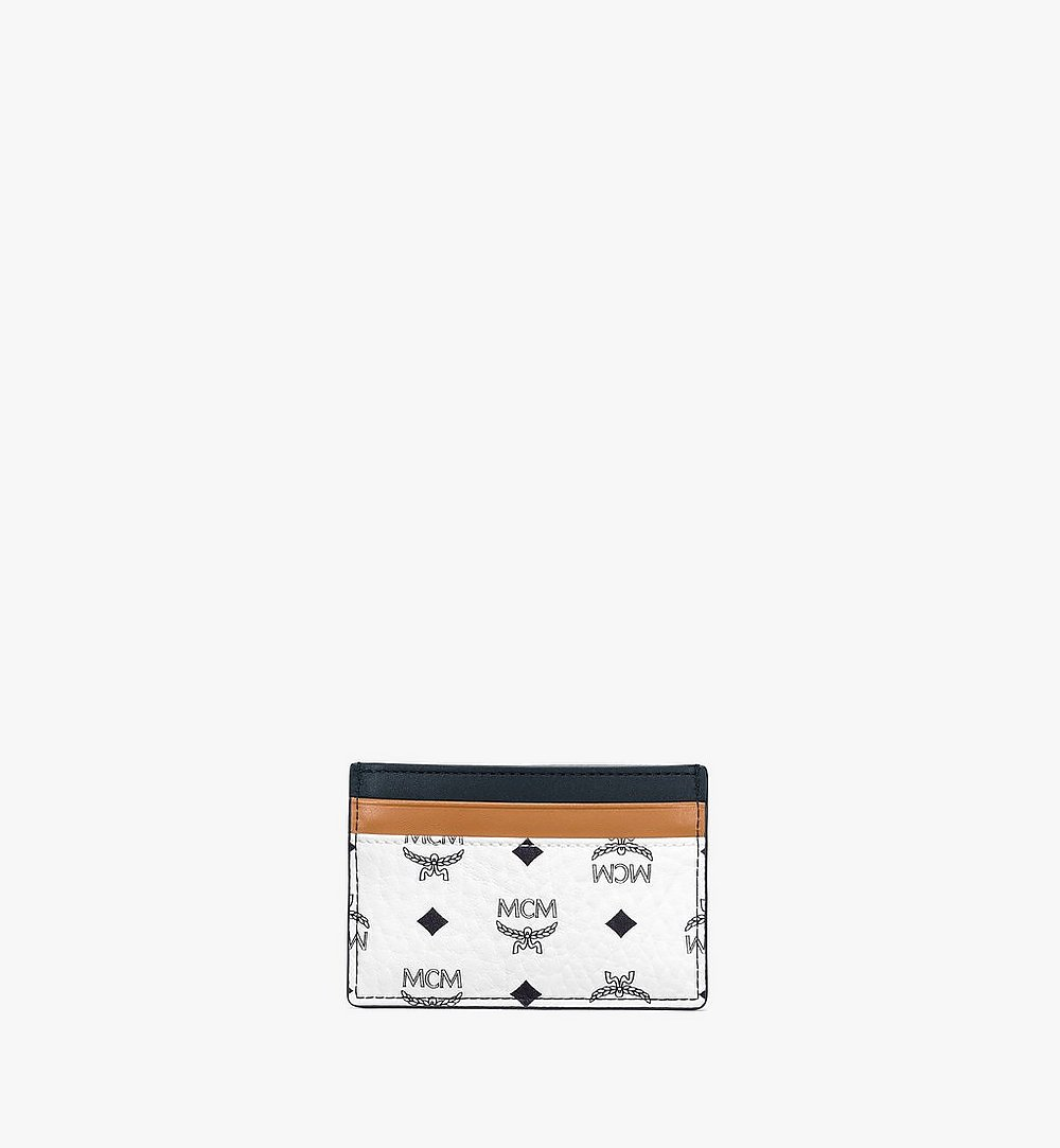 MCM Card Case in Visetos Mix White MXABSVI02WT001 Alternate View 2