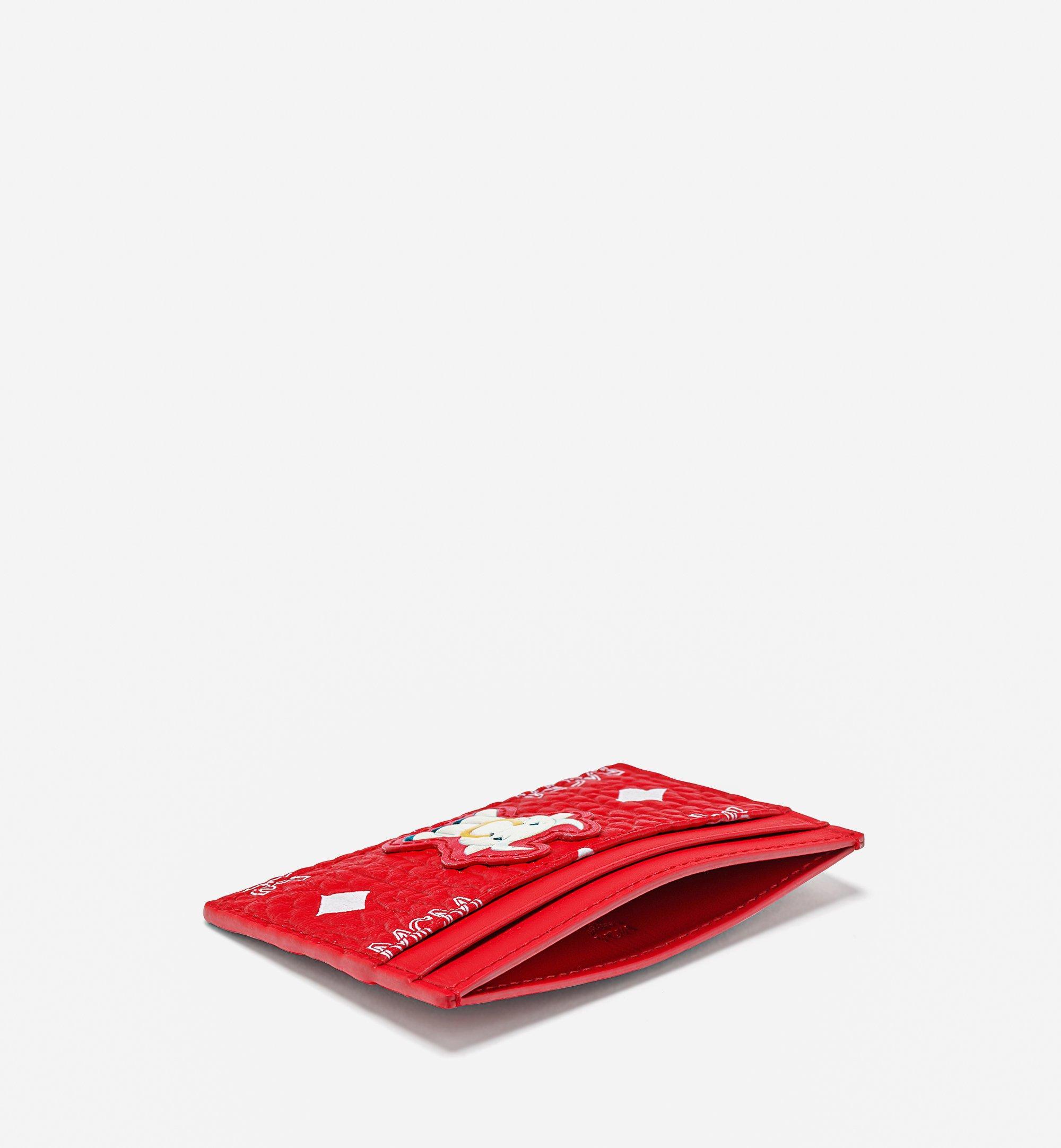 MCM カードケース - ニューイヤー ヴィセトス Red MXABSXL01AV001 ほかの角度から見る 1