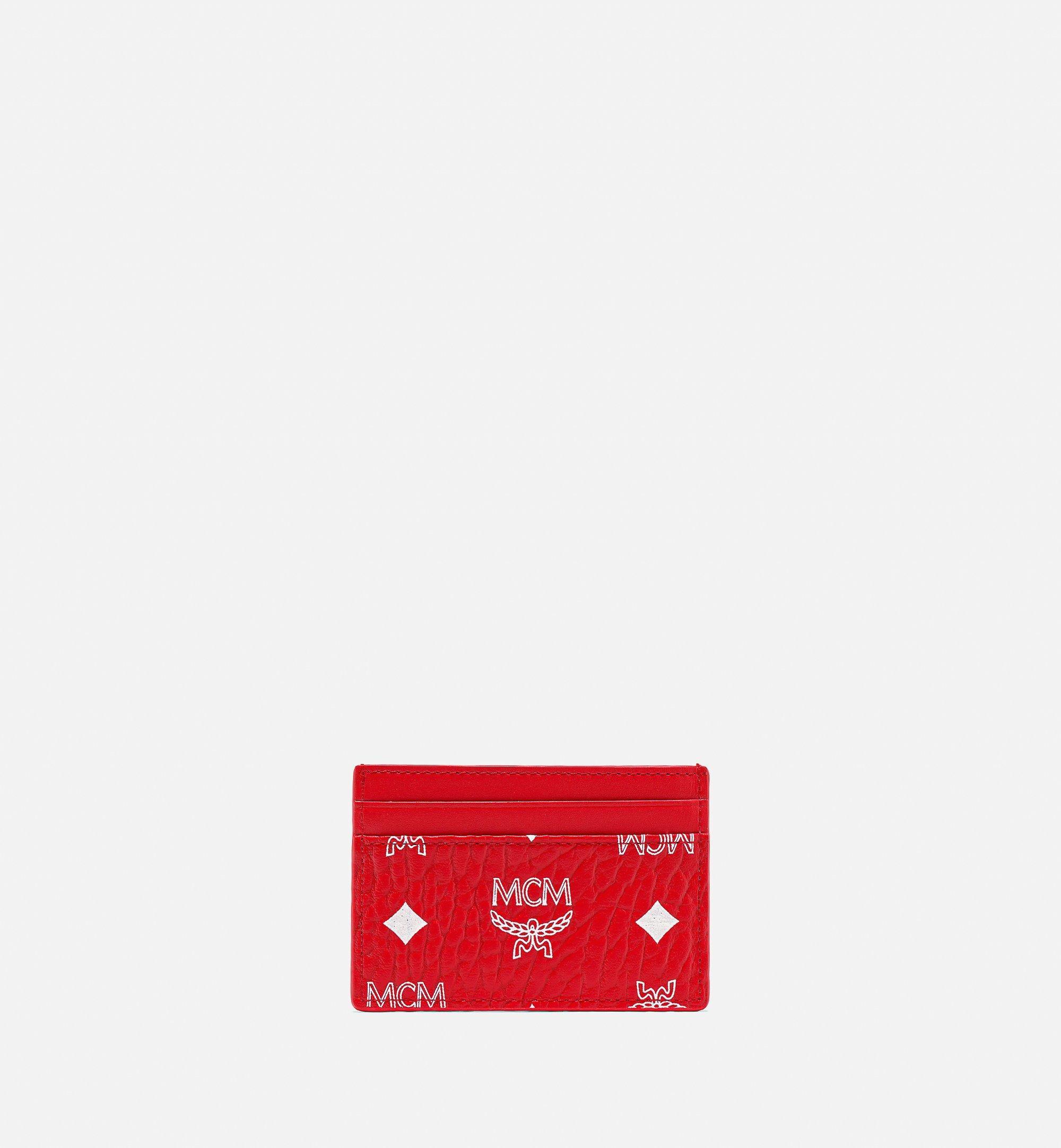 MCM カードケース - ニューイヤー ヴィセトス Red MXABSXL01AV001 ほかの角度から見る 2