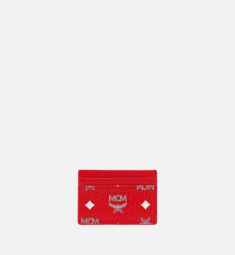 MCM Card Case in New Year Visetos Red MXABSXL01AV001 Alternate View 2