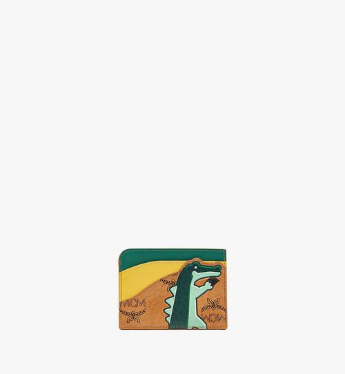 Porte-cartes MCM Zoo crocodile en mélange de cuir et Visetos