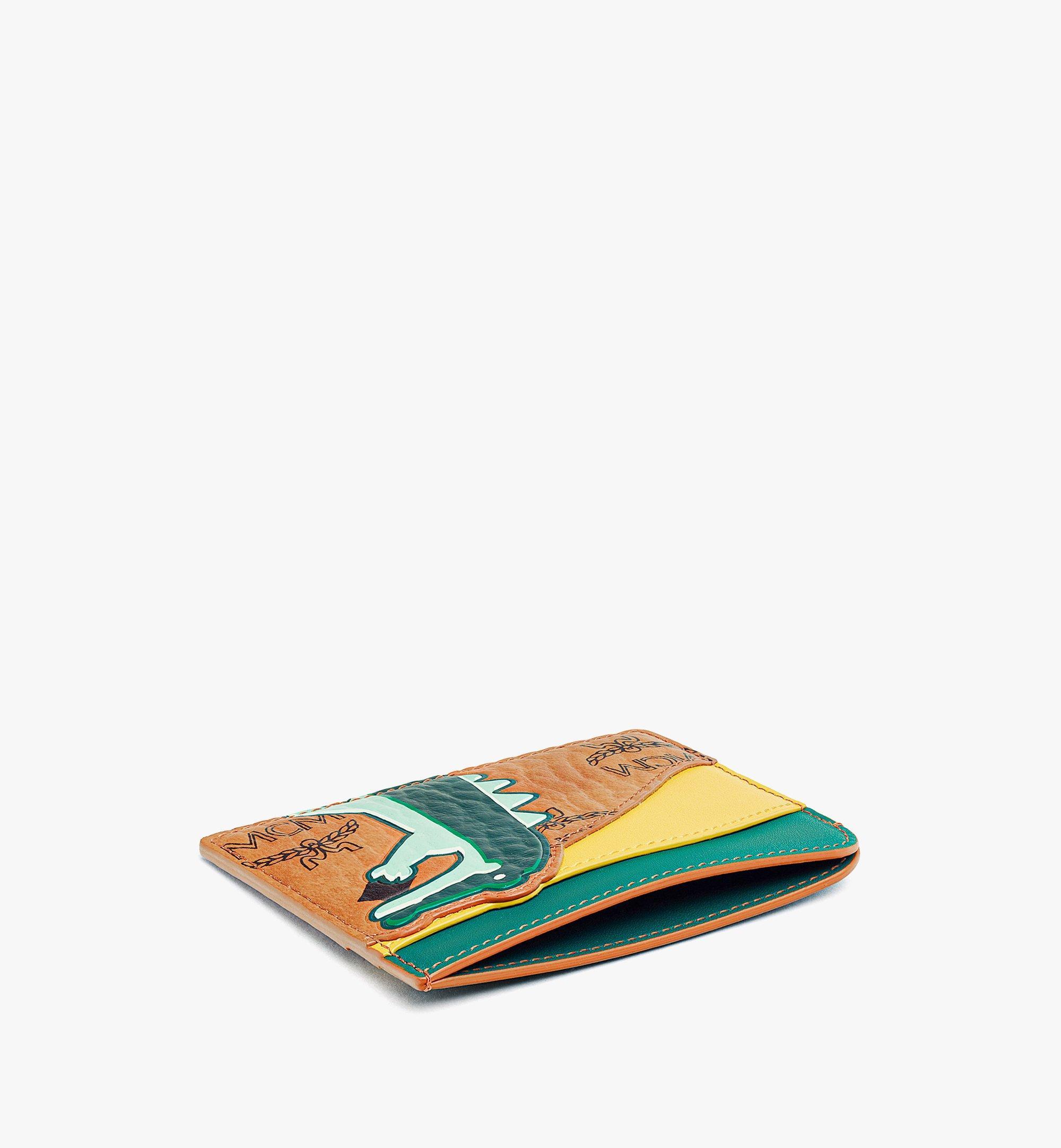 MCM MCM Zoo Crocodile Card Case in Visetos Leather Mix Cognac MXABSXL02CO001 Alternate View 1