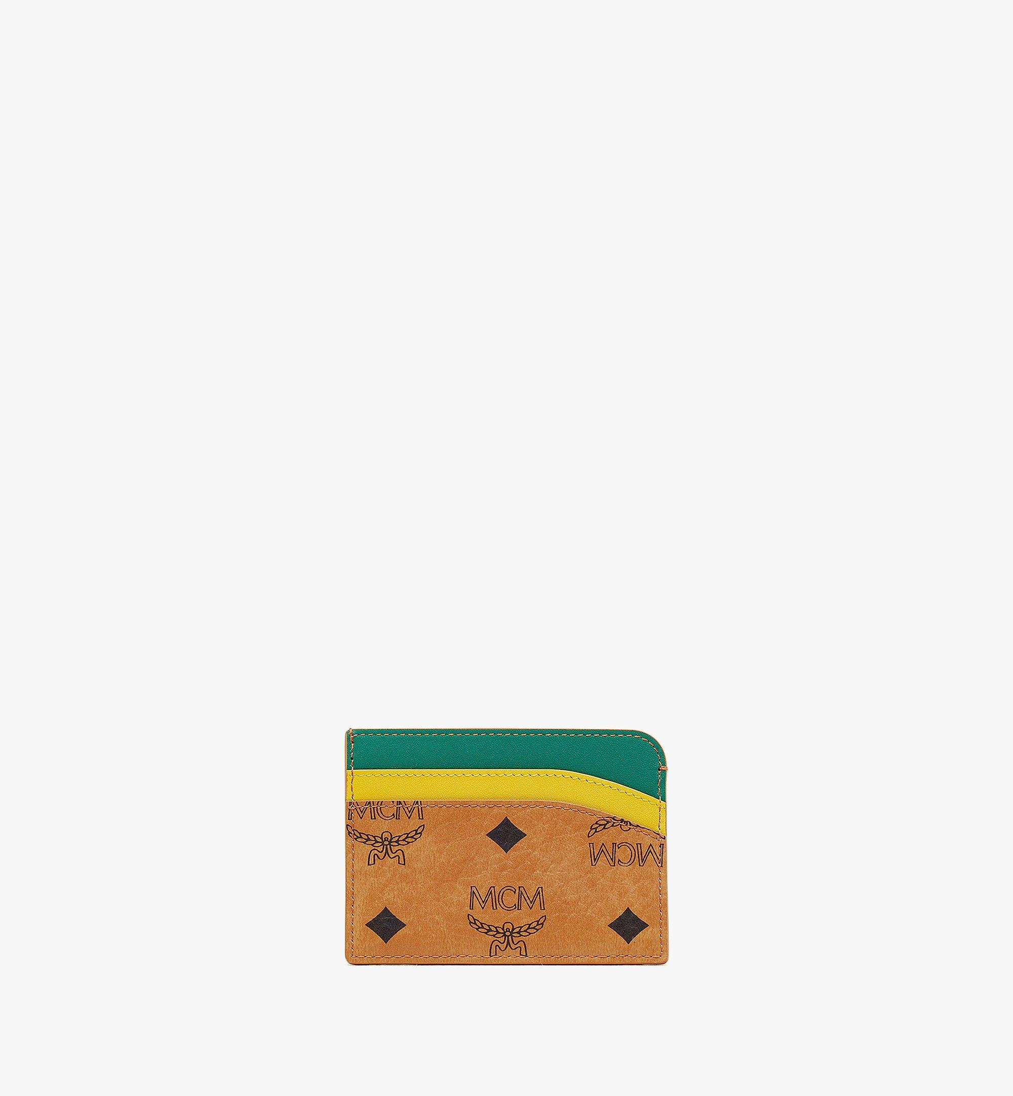 MCM MCM Zoo Crocodile Card Case in Visetos Leather Mix Cognac MXABSXL02CO001 Alternate View 2