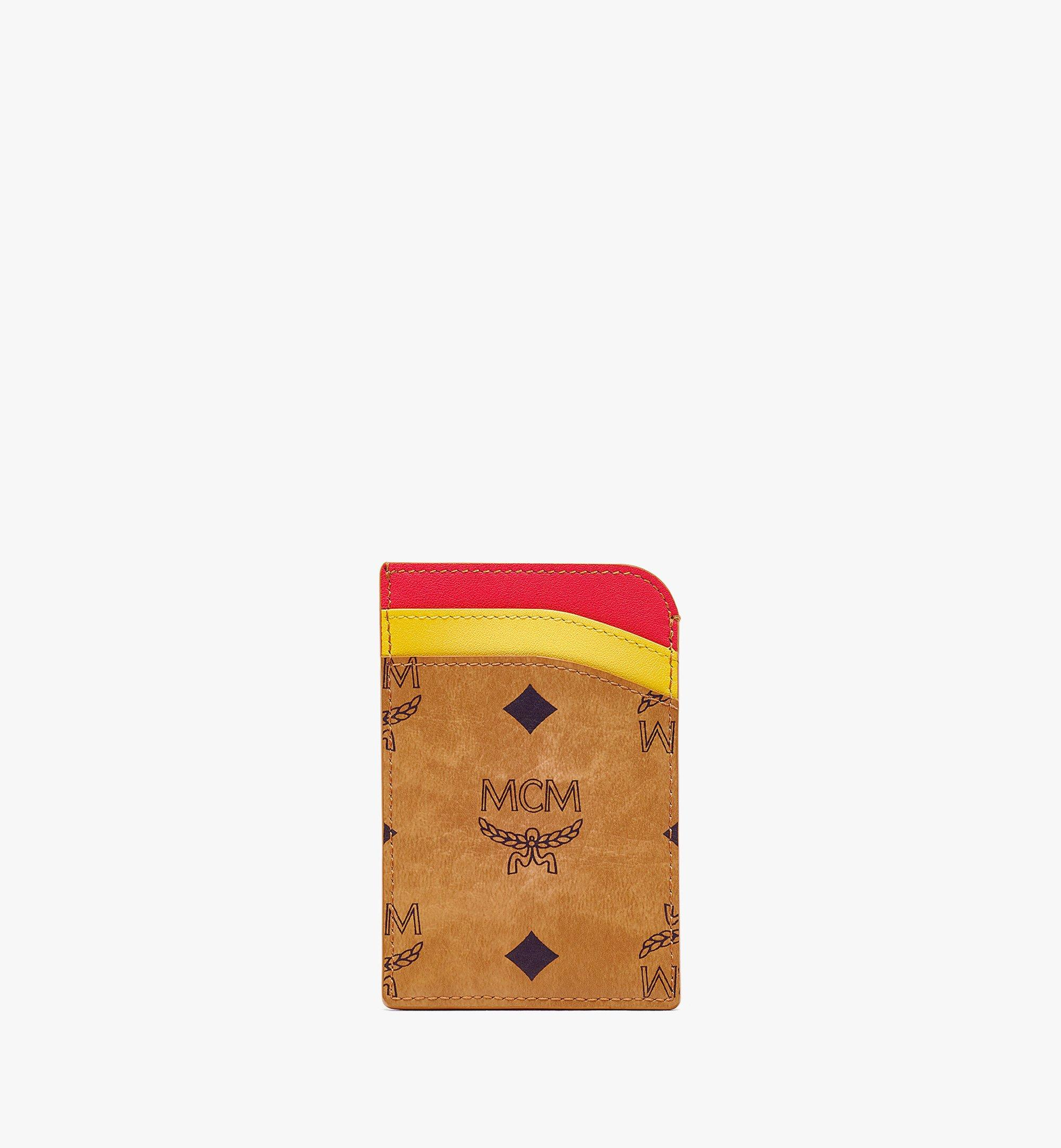 MCM MCM Zoo N/S Parrot Card Case in Visetos Leather Mix Cognac MXABSXL03CO001 Alternate View 2