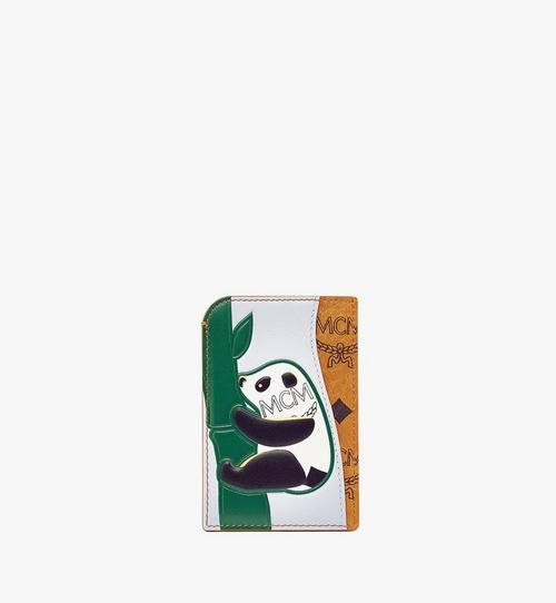 MCM Zoo N/S Panda Card Case in Visetos Leather Mix