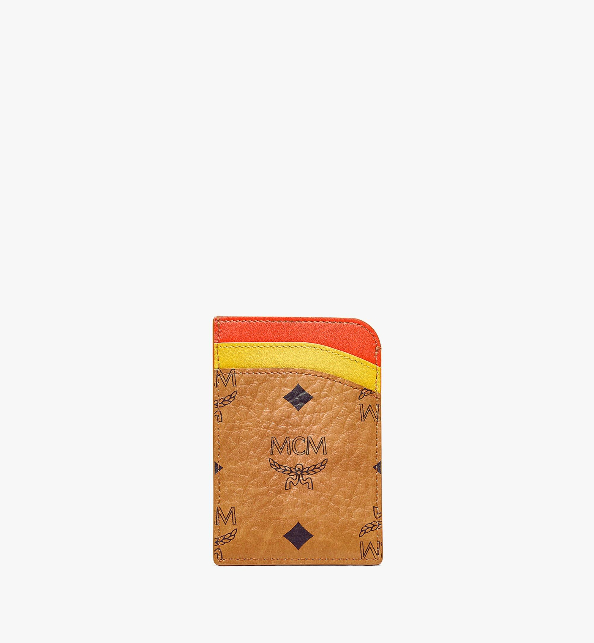 MCM MCM Zoo N/S Monkey Card Case in Visetos Leather Mix Cognac MXABSXL05CO001 Alternate View 2