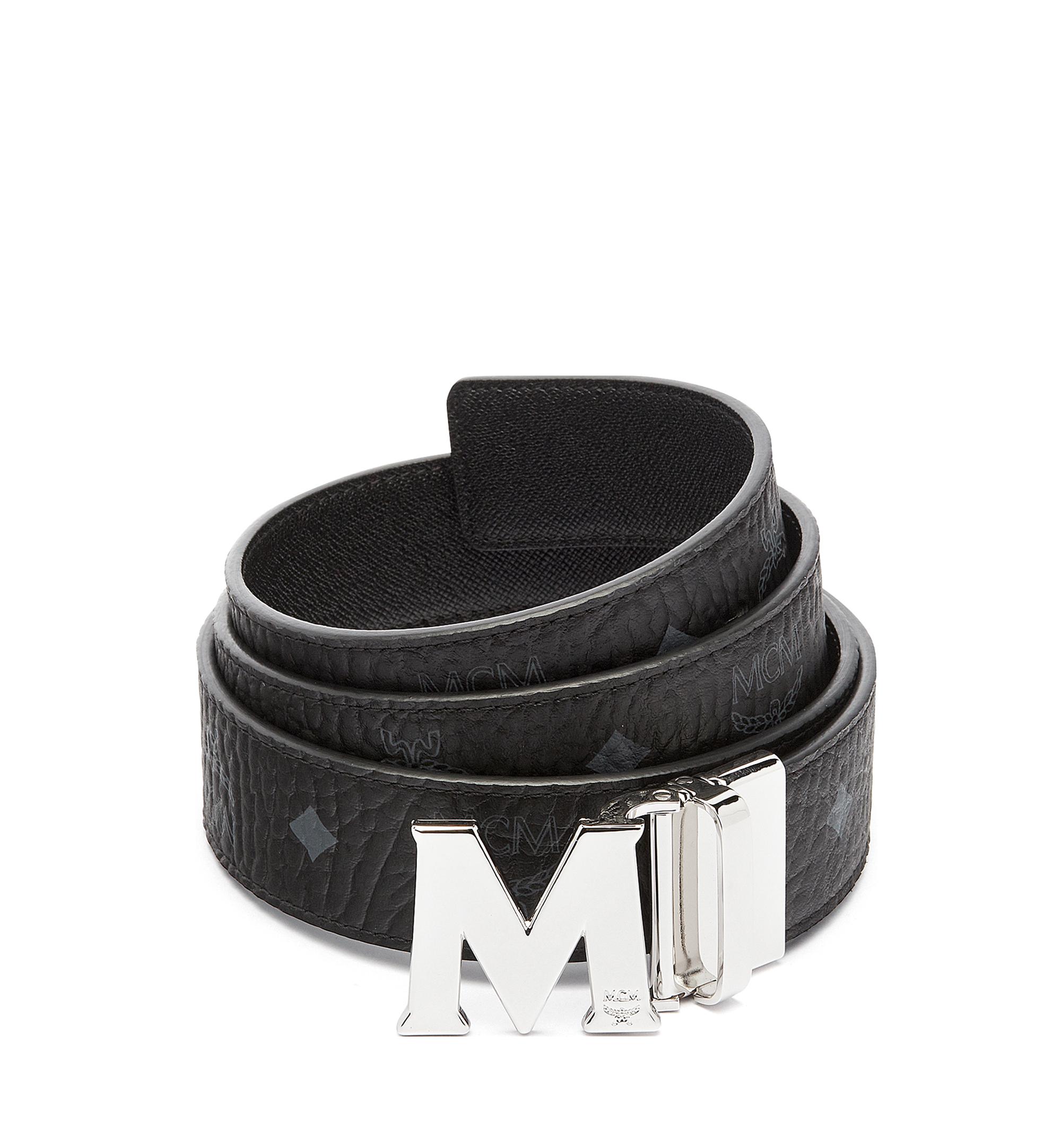 "MCM Claus M Reversible Belt 1.5"" in Visetos Black MXB6AVI02BK001 Alternate View 1"