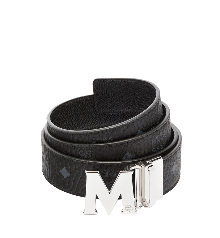 MCM Ceinture amovible Claus M 3,80 cm en Visetos Black MXB6AVI02BK001 Alternate View 1