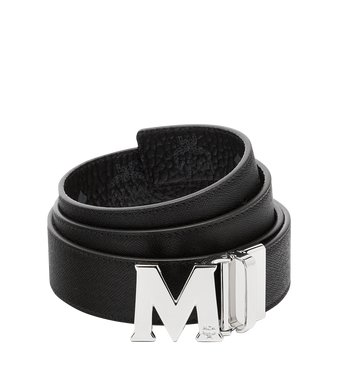 "MCM Claus M Reversible Belt 1.5"" in Visetos Black MXB6AVI02BK001 Alternate View 2"
