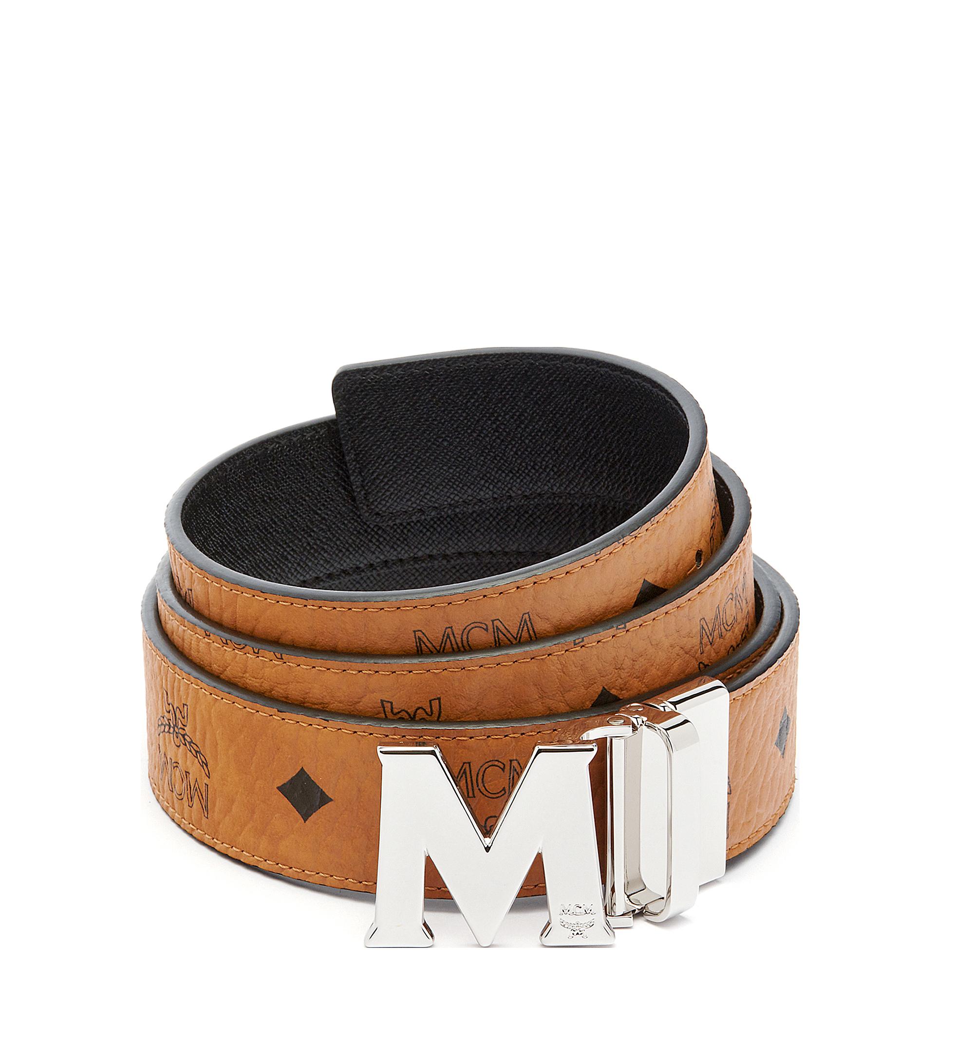 "MCM Claus M Reversible Belt 1.5"" in Visetos Cognac MXB6AVI02CO001 Alternate View 1"