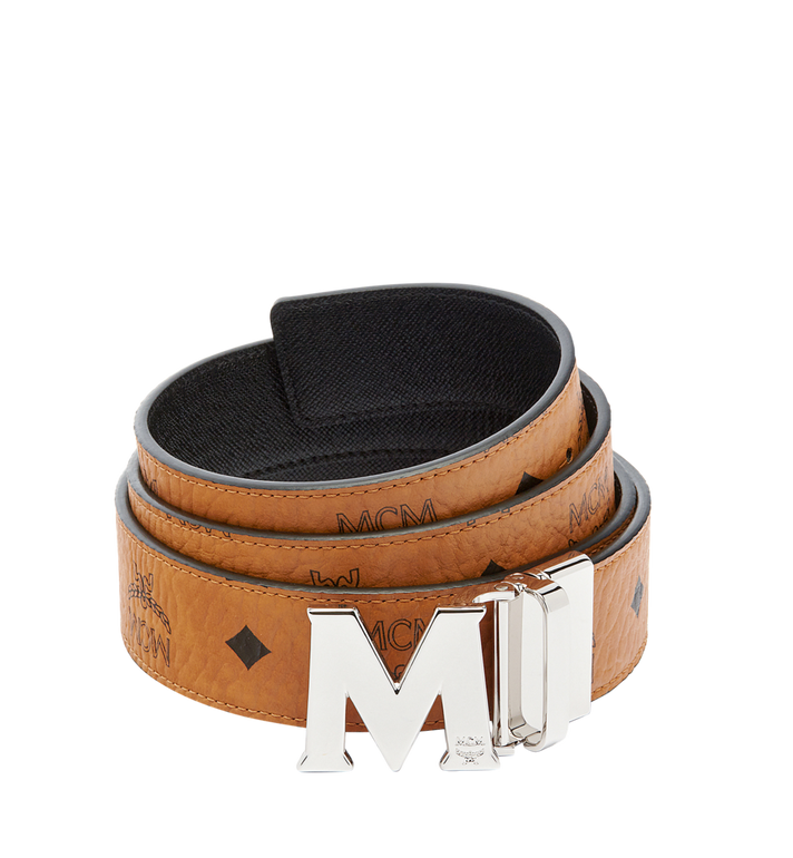 "MCM Claus M Reversible Belt 1.5"" in Visetos Alternate View 1"