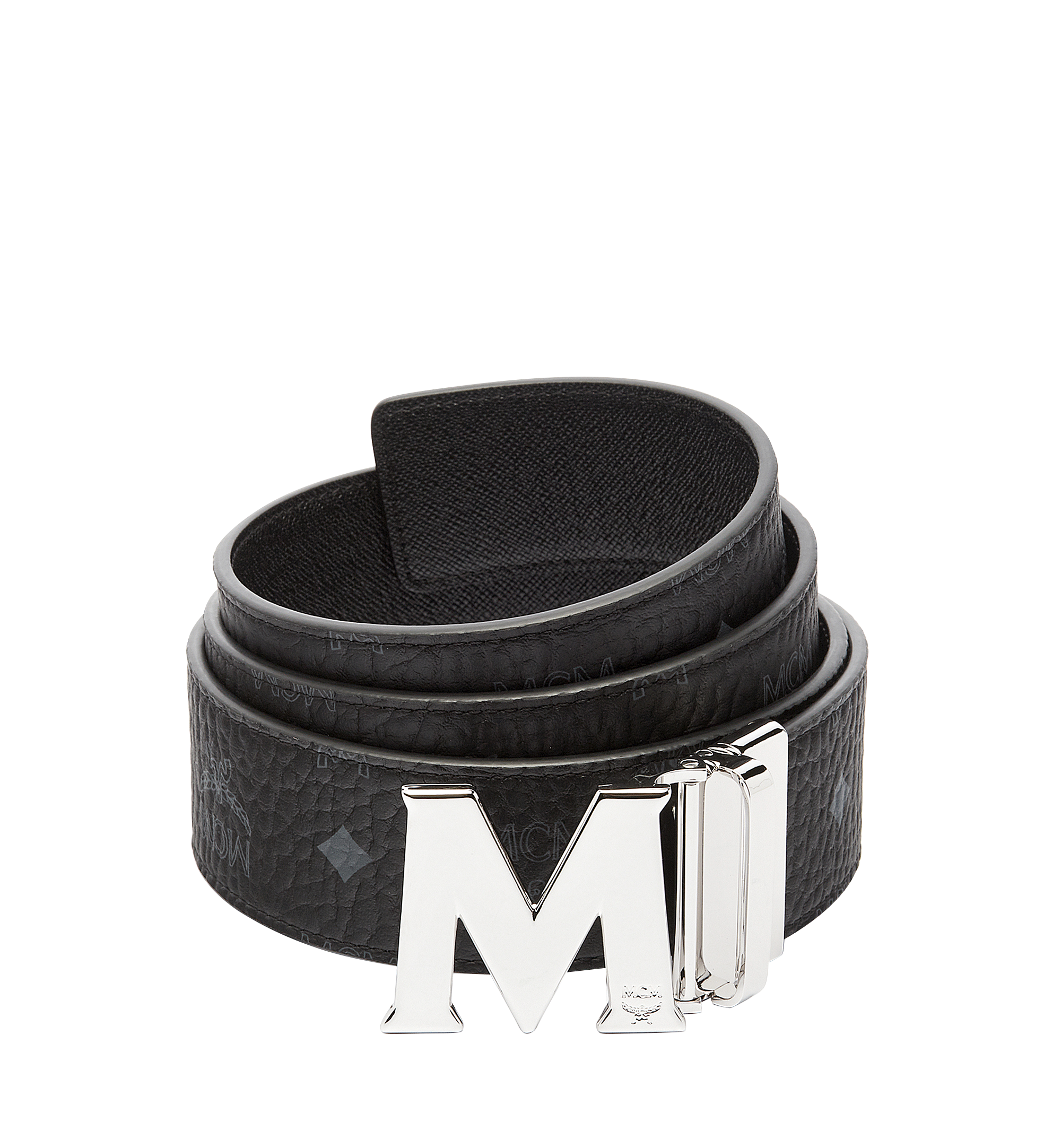 "MCM Claus M Reversible Belt 1.75"" in Visetos Black MXB6AVI03BK001 Alternate View 1"