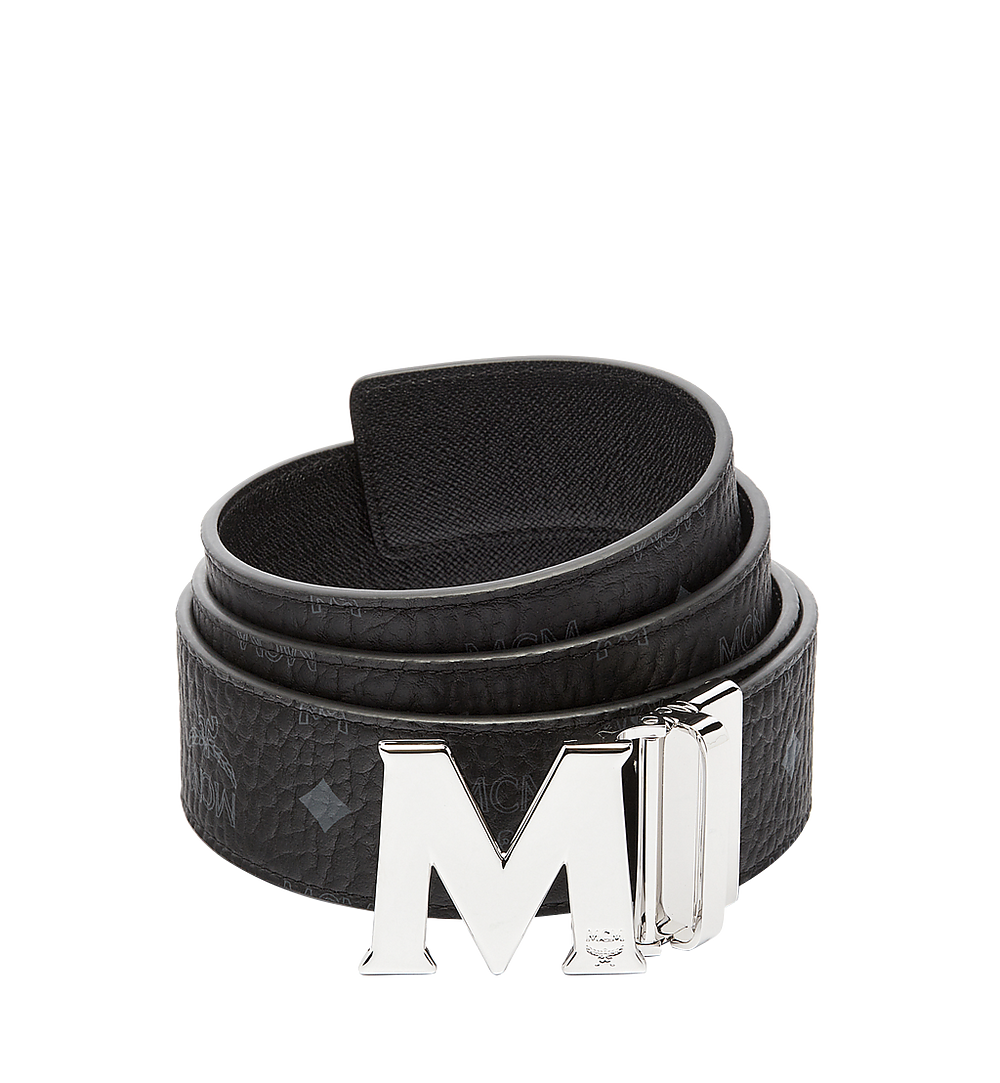MCM Claus M Reversible Belt 4.5 cm in Visetos Black MXB6AVI03BK001 Alternate View 1
