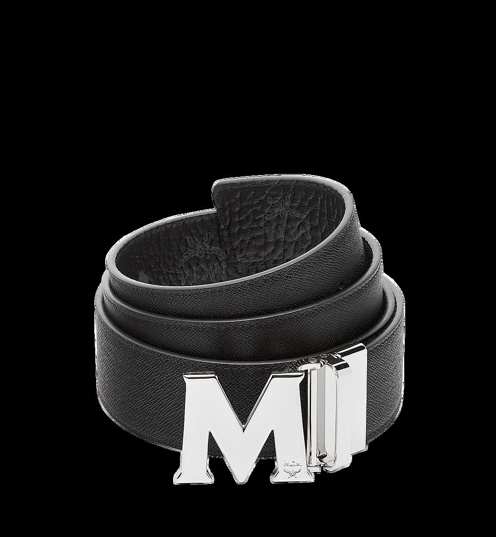 MCM Visetos 系列的 Claus M 1.75 吋可翻轉皮帶 Black MXB6AVI03BK001 更多視圖 1