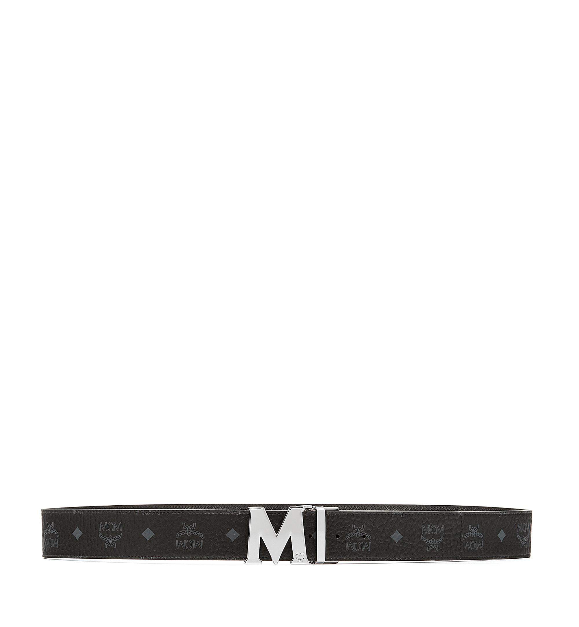 MCM Visetos 系列的 Claus M 1.75 吋可翻轉皮帶 Black MXB6AVI03BK001 更多視圖 2