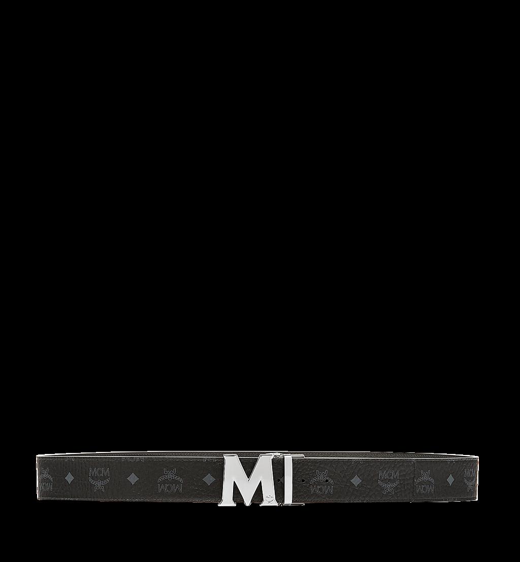 "MCM Claus M Reversible Belt 1.75"" in Visetos Black MXB6AVI03BK001 Alternate View 2"