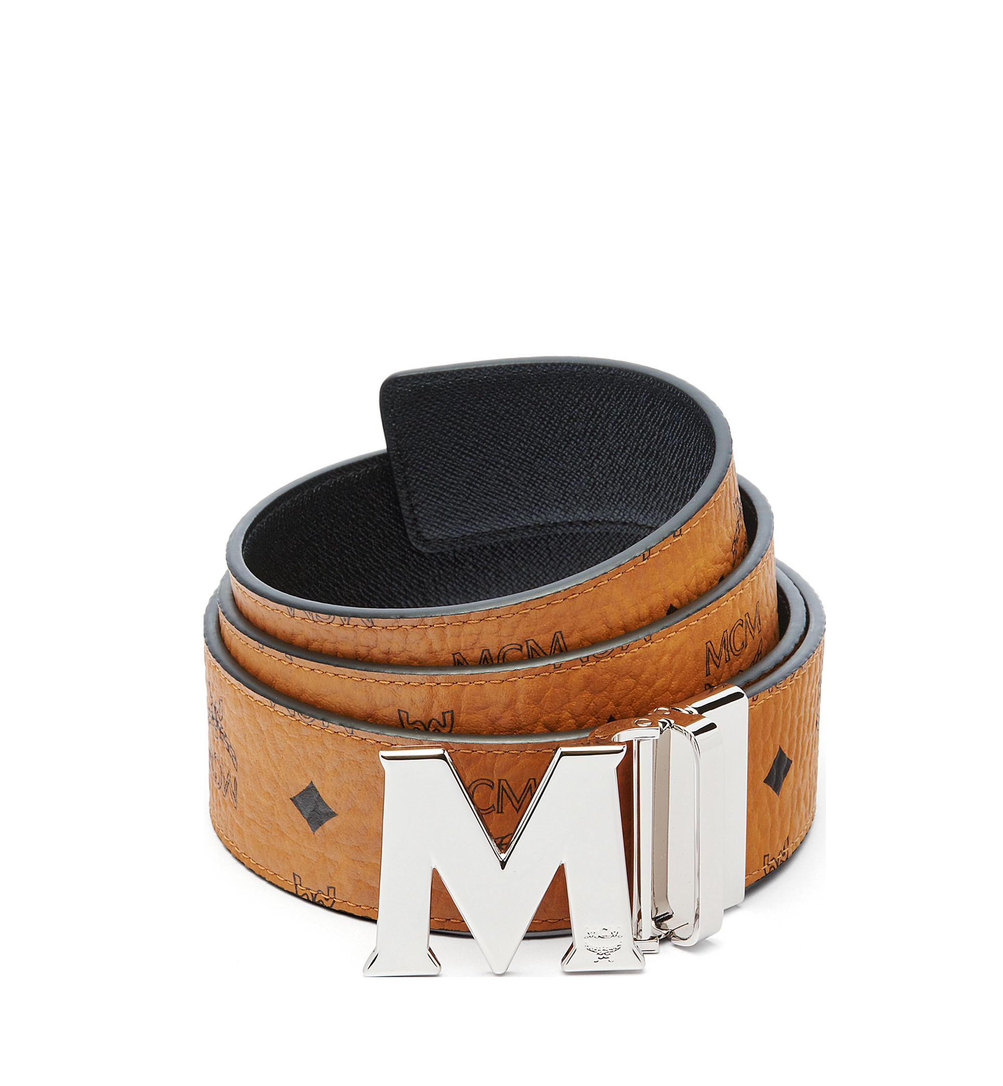 "MCM Claus M Reversible Belt 1.75"" in Visetos Cognac MXB6AVI03CO001 Alternate View 1"