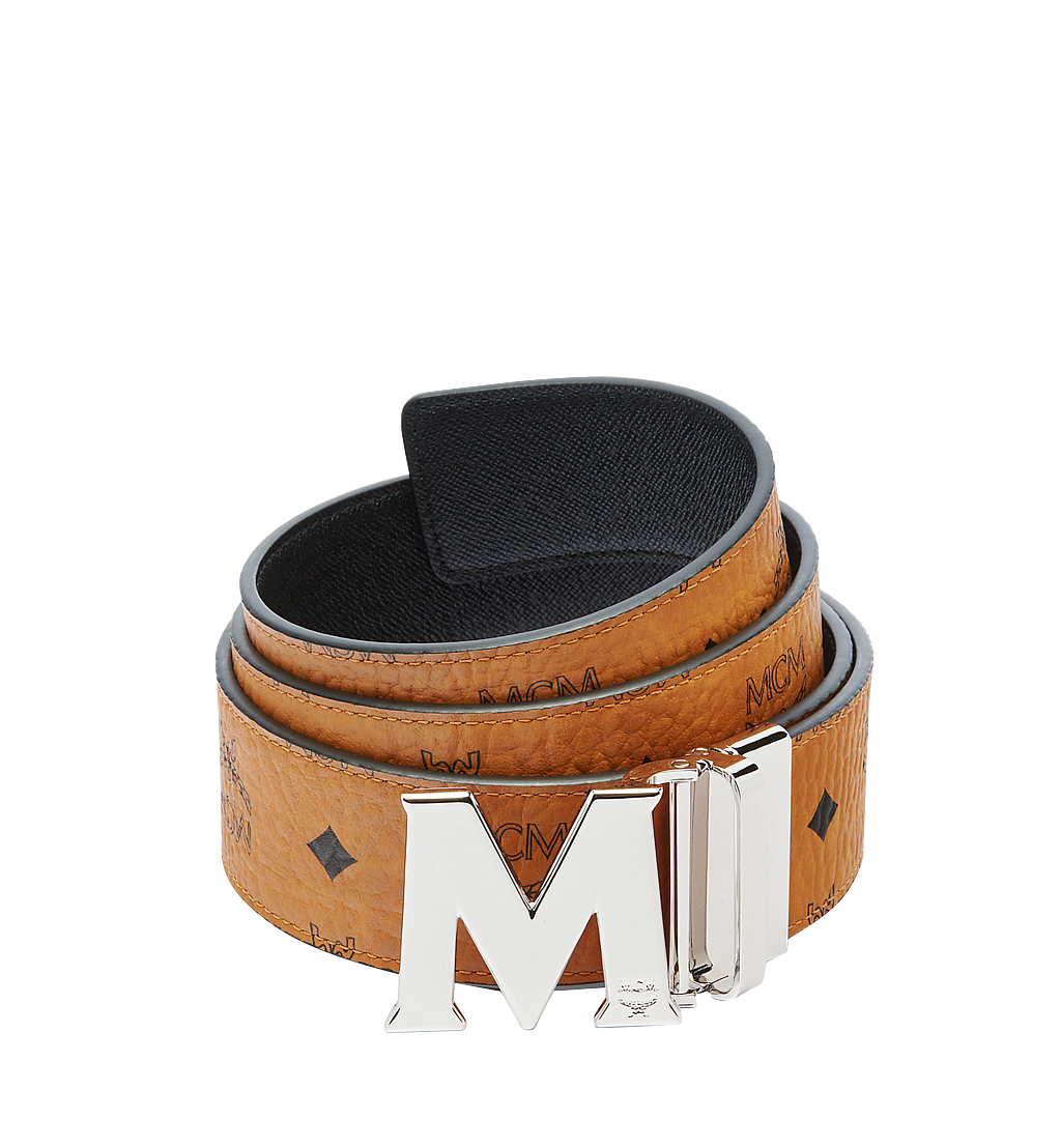 MCM Claus M Reversible Belt 4.5 cm in Visetos Cognac MXB6AVI03CO001 Alternate View 1